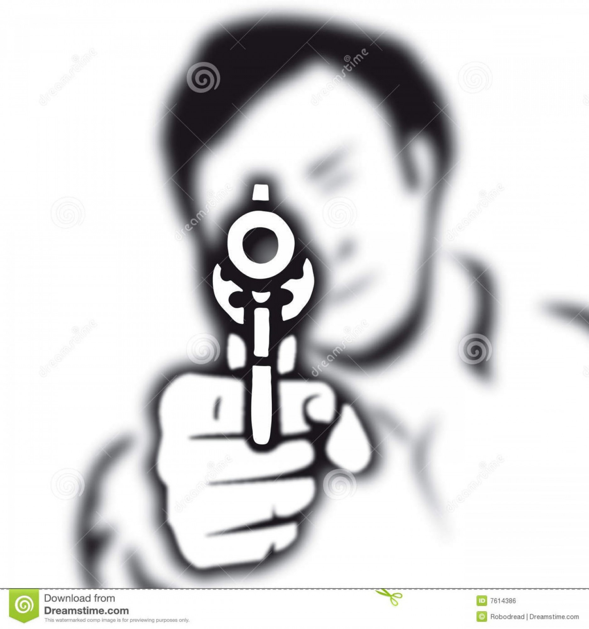 Finger Gun To Head Vector: Royalty Free Stock Image Gun Vector Image