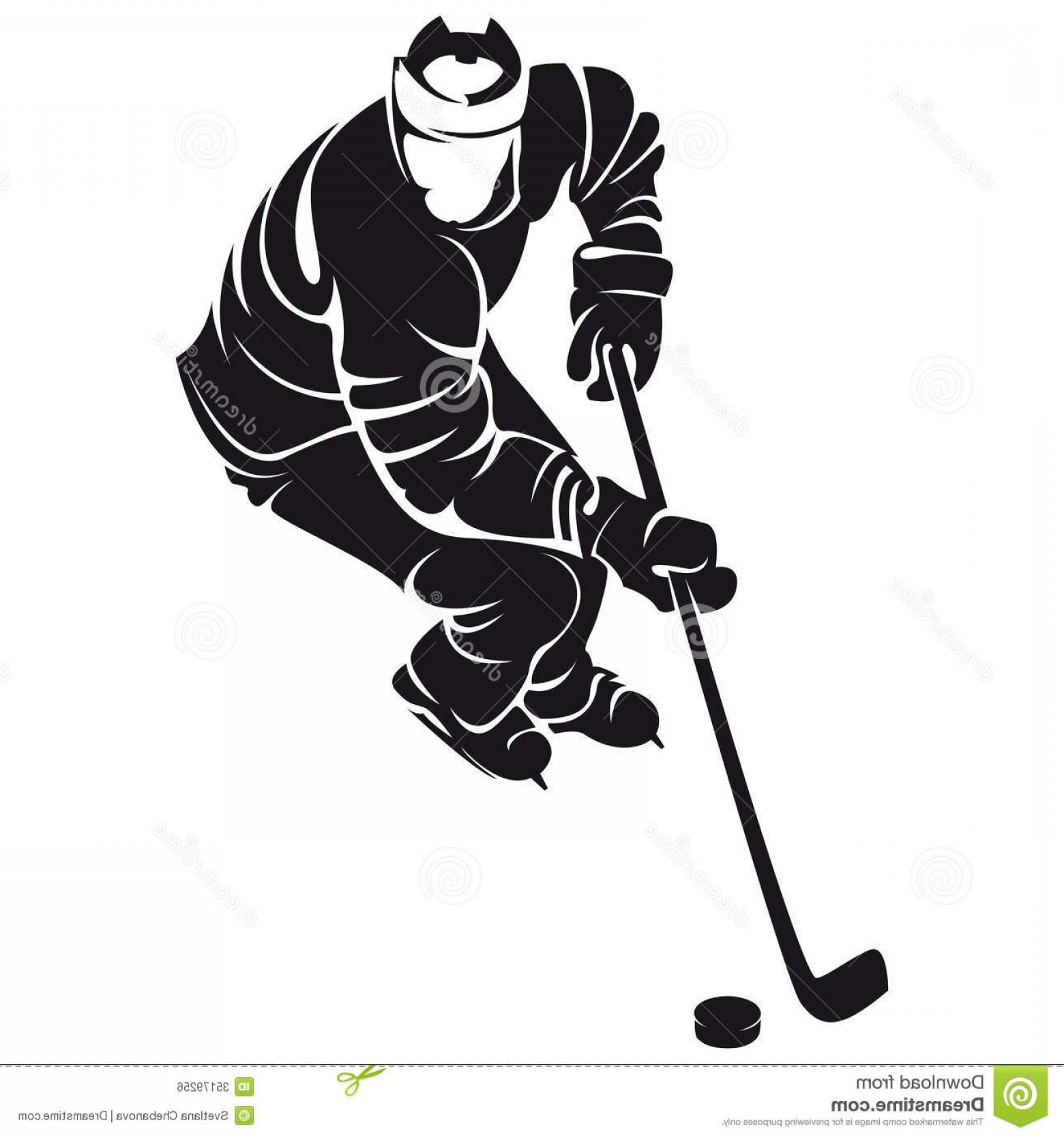 Hockey Player Silhouette Vector: Royalty Free Stock Image Hockey Player Silhouette Isolated White Image