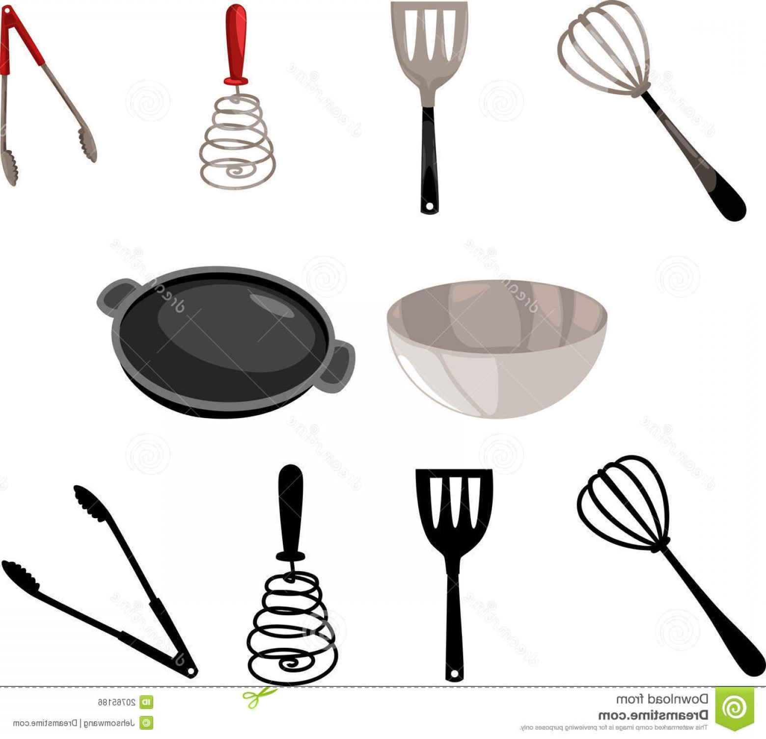 Vector Chef Utensils: Royalty Free Stock Image Illustration Kitchen Tool Vector Image