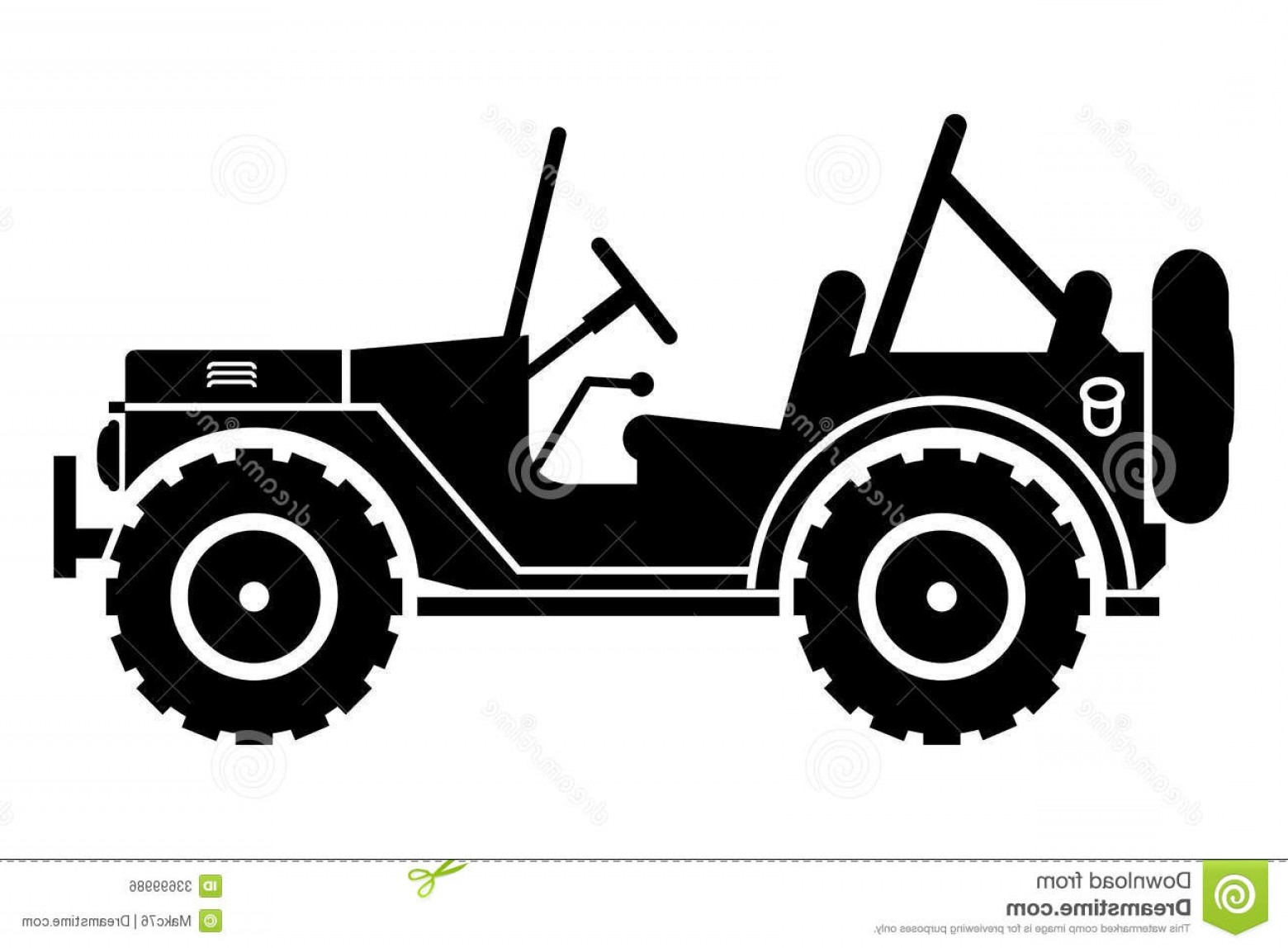 Jeep Tire Vector: Royalty Free Stock Image Jeep Silhouette Gin Suv Open Top Image