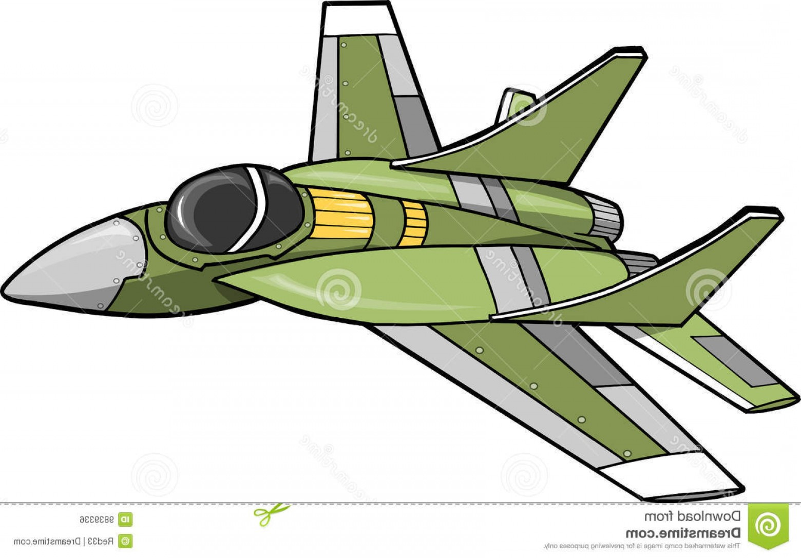 Vector Jet Fighter: Royalty Free Stock Image Jet Fighter Vector Illustration Image