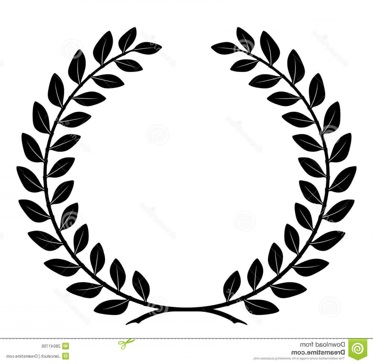 Award Vector Leaves: Royalty Free Stock Image Laurel Wreath Detailed Branches Vector Image