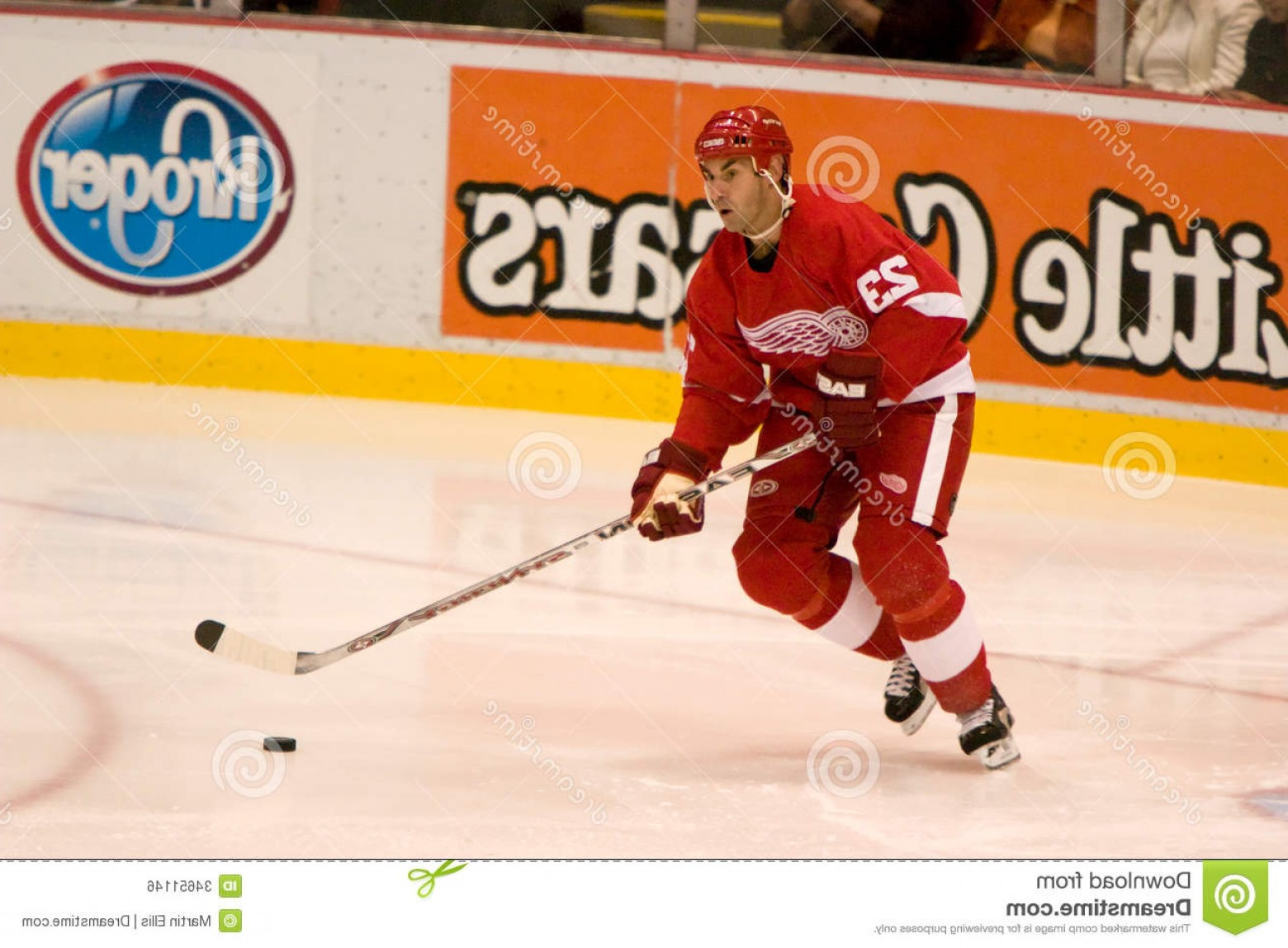 Detroit Red Wings Vector Art: Royalty Free Stock Image Mathieu Schneider Detroit Red Wings Controls Puck Game Against Phoenix Coyotes Joe Louis Arena Image