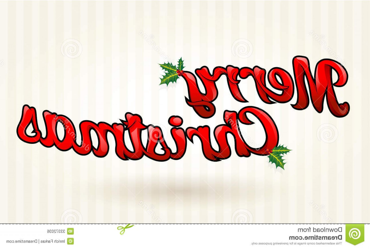 Merry Christmas Vector Graphic: Royalty Free Stock Image Merry Christmas Text Worked Out To Details Vector Art Image