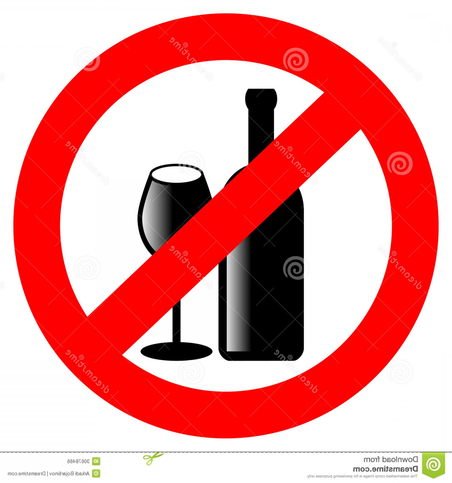Vector No Alcohol: Royalty Free Stock Image No Alcohol Vector Sign Isolated White Image