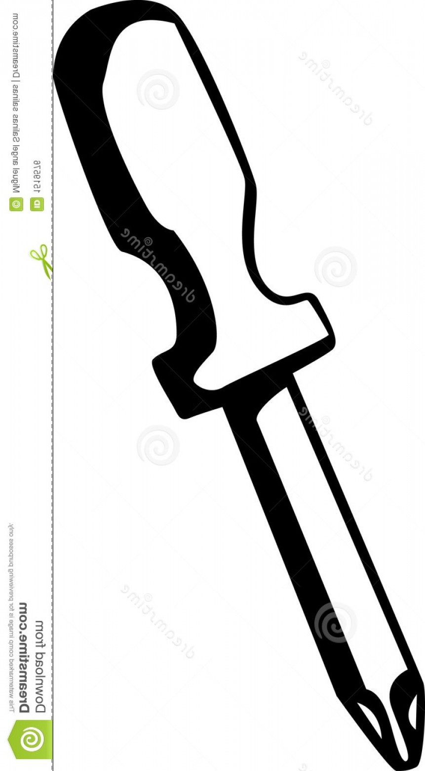 Flat Head Screwdriver Vector: Royalty Free Stock Image Phillips Head Screwdriver Vector Illustration Image