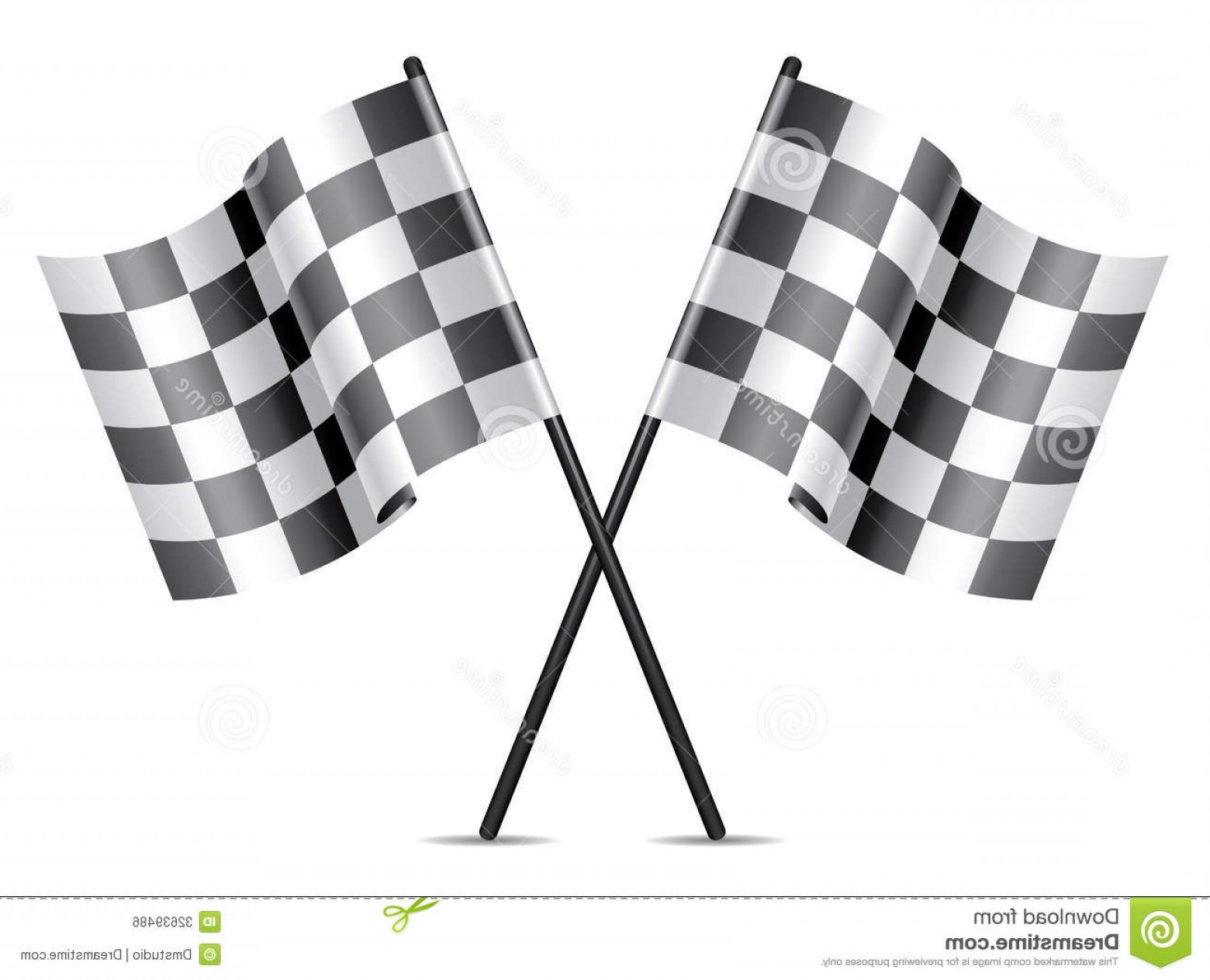 Vector Checkered Flag Heart: Royalty Free Stock Image Racing Flags Icon Checkered White Background Image