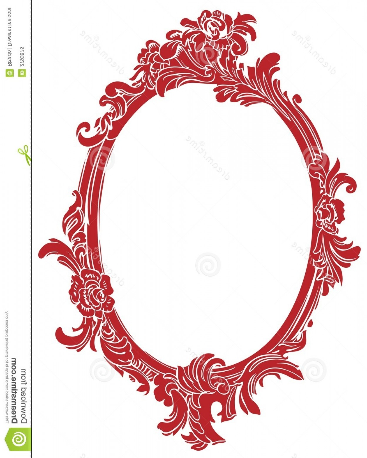 Filigree Oval Frame Vector: Royalty Free Stock Image Red Decor Frame Image