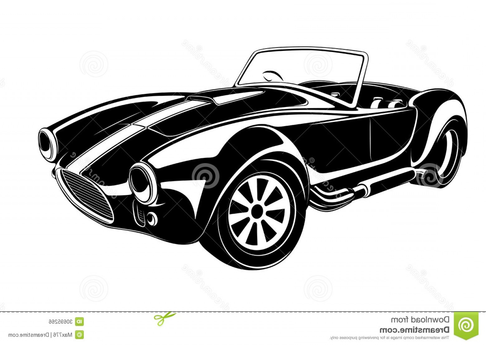 Cars Skyline Vector: Royalty Free Stock Image Retro Car Vector To Use Design Image