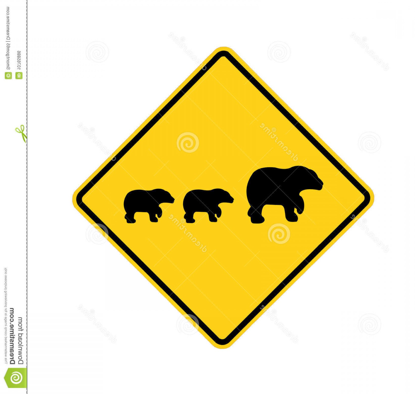 Road Sign Silhouette Vector Bear: Royalty Free Stock Image Road Sign Bear Crossing Image