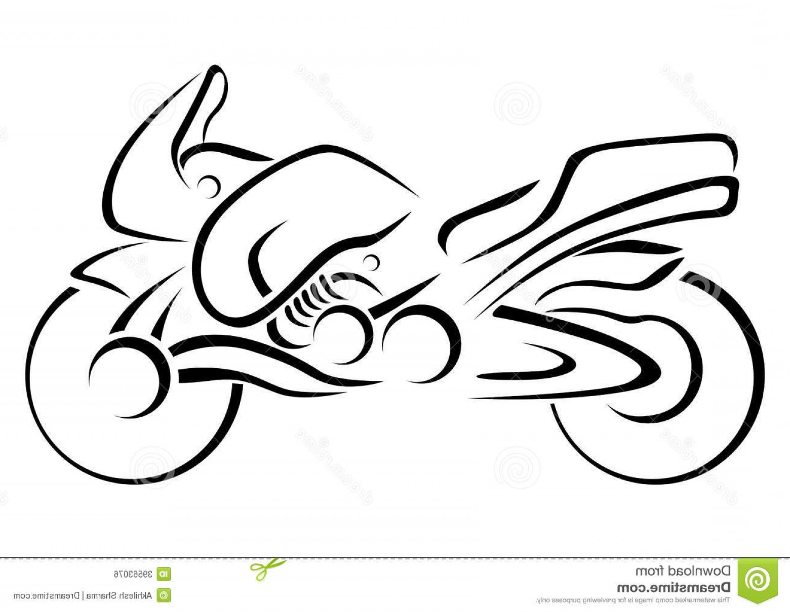 Stylized Vector Motorcycle: Royalty Free Stock Image Stylized Motorcycle Vector Illustration Stylised Brush Strokes Image