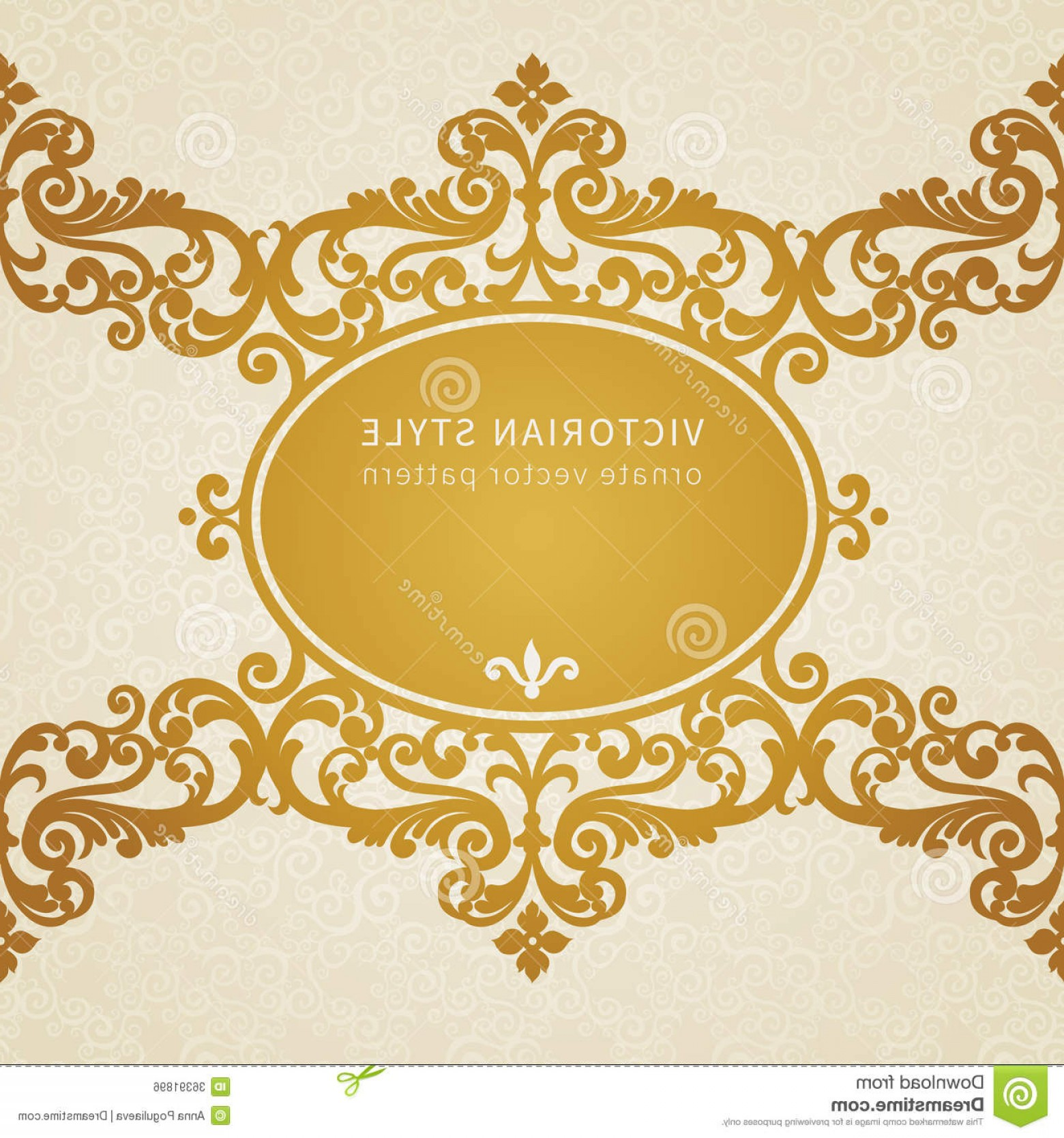 Victorian Style Frame Vector: Royalty Free Stock Image Vector Baroque Frame Victorian Style Element Design You Can Place Text Empty Can Be Used Decorating Image