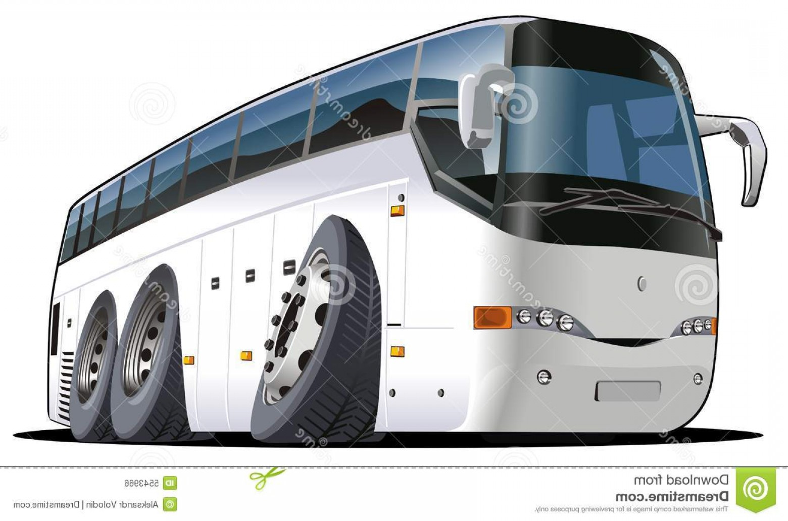 Pic Bus Vector Format: Royalty Free Stock Image Vector Cartoon Tourist Bus Image