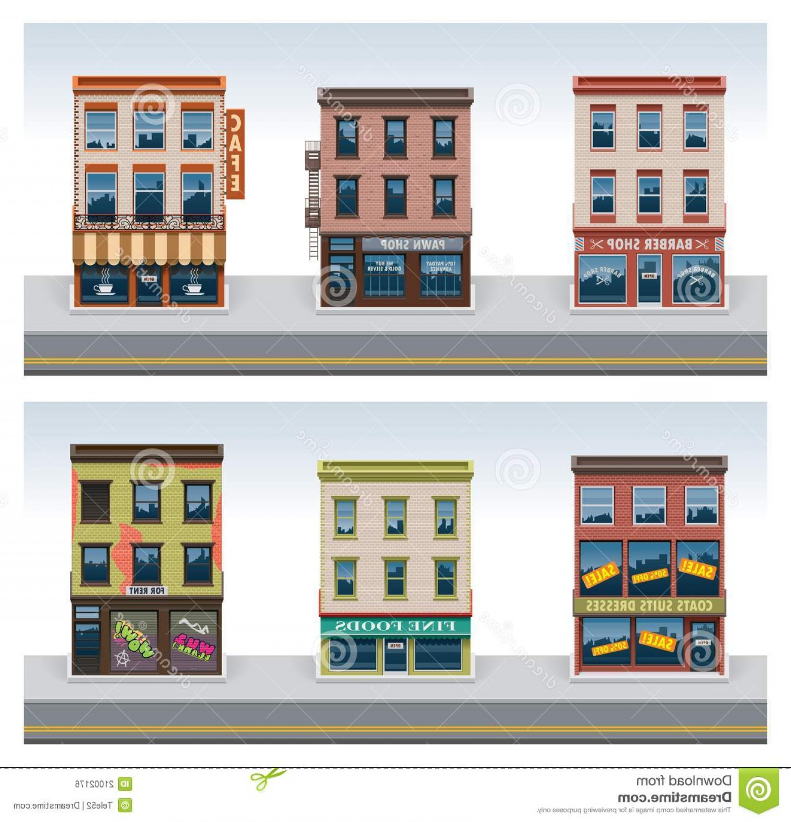 City Building Vector Free Download: Royalty Free Stock Image Vector City Buildings Icon Set Image
