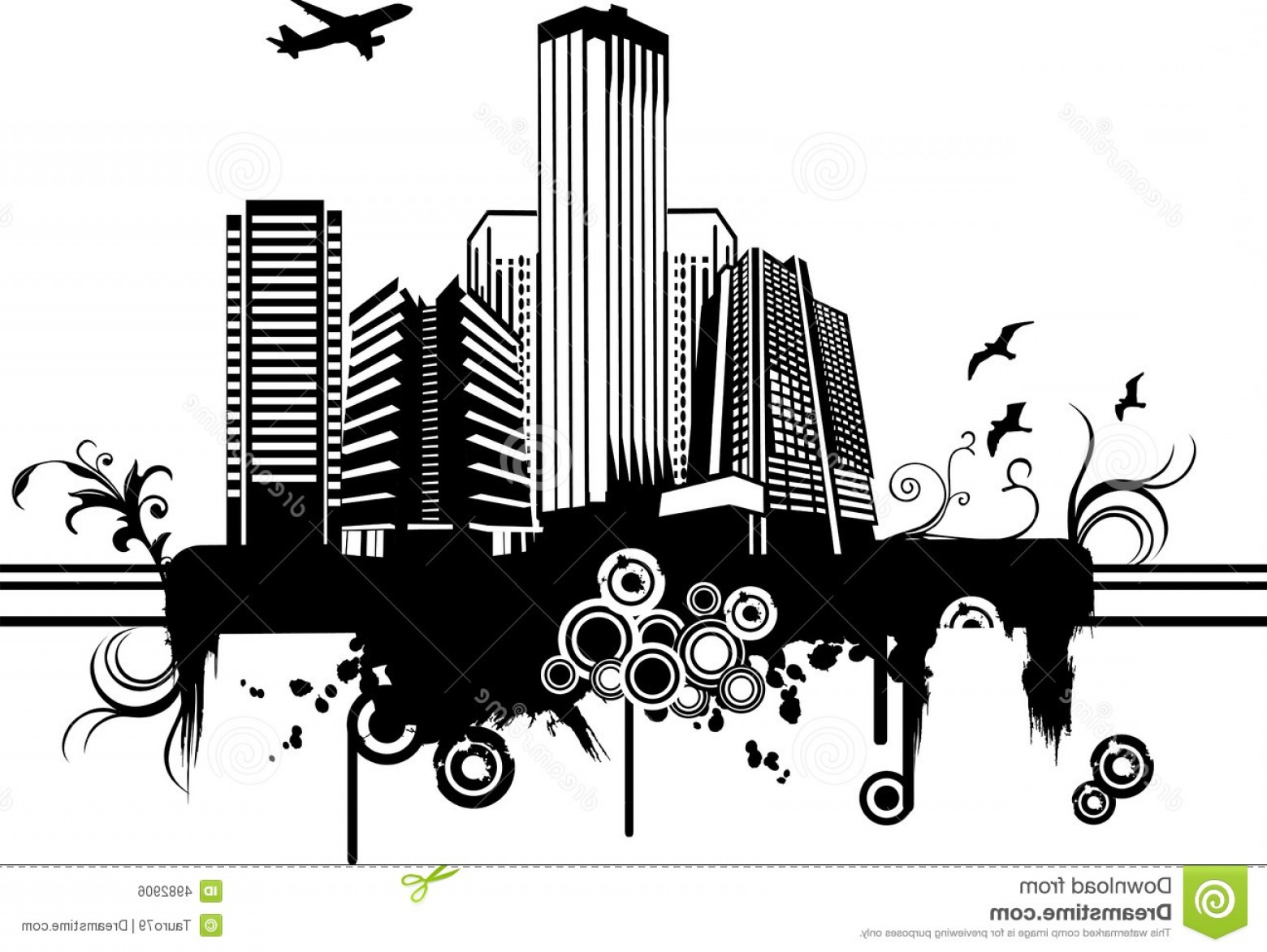 City Vector: Royalty Free Stock Image Vector City Illustration Image
