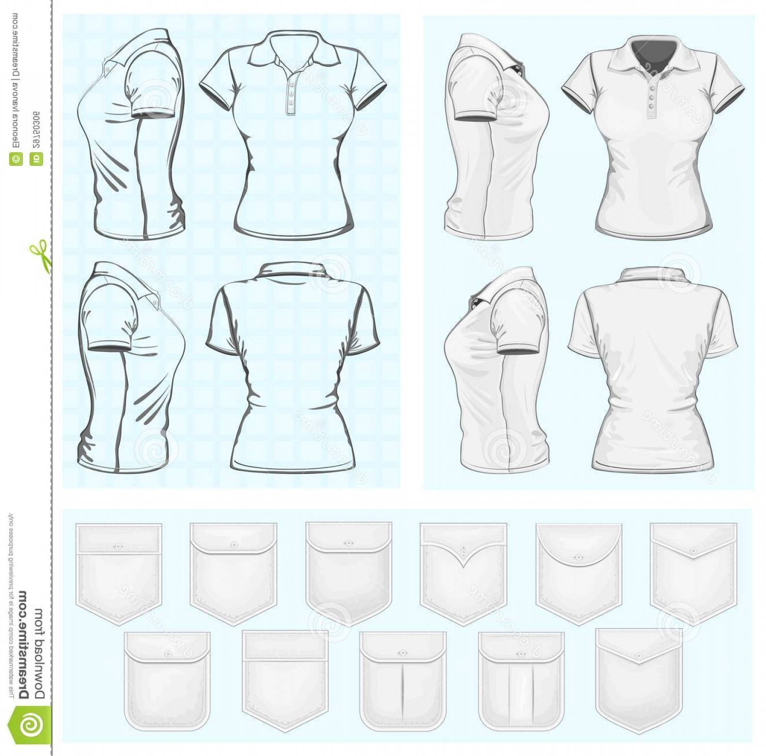 Female Polo Shirt Vector Template: Royalty Free Stock Image Vector Women S Polo Shirt Design Templates Image