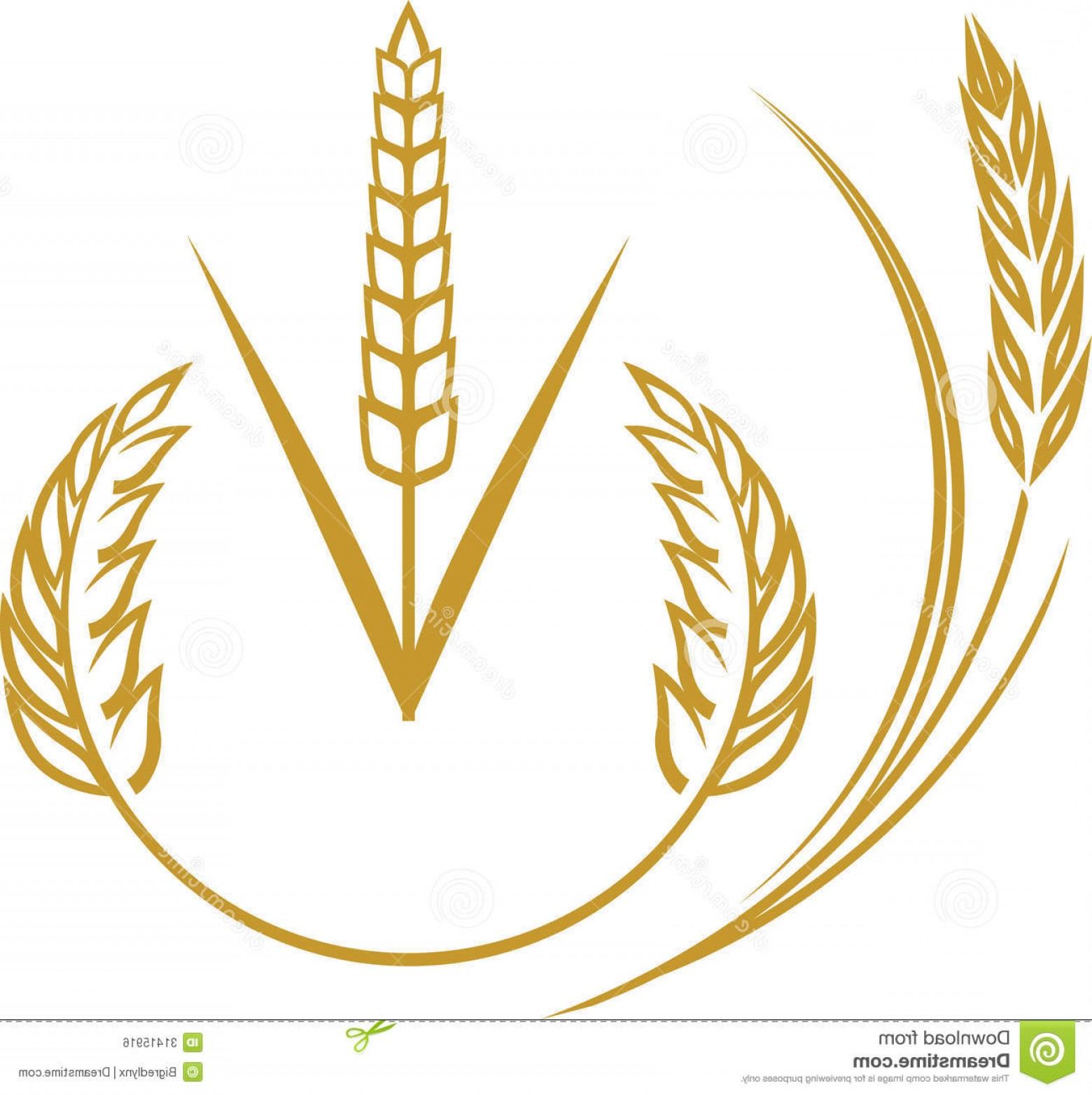Wheat Flourishes Vector: Royalty Free Stock Image Wheat Elements Abstract Icon Symbol Clip Art Image