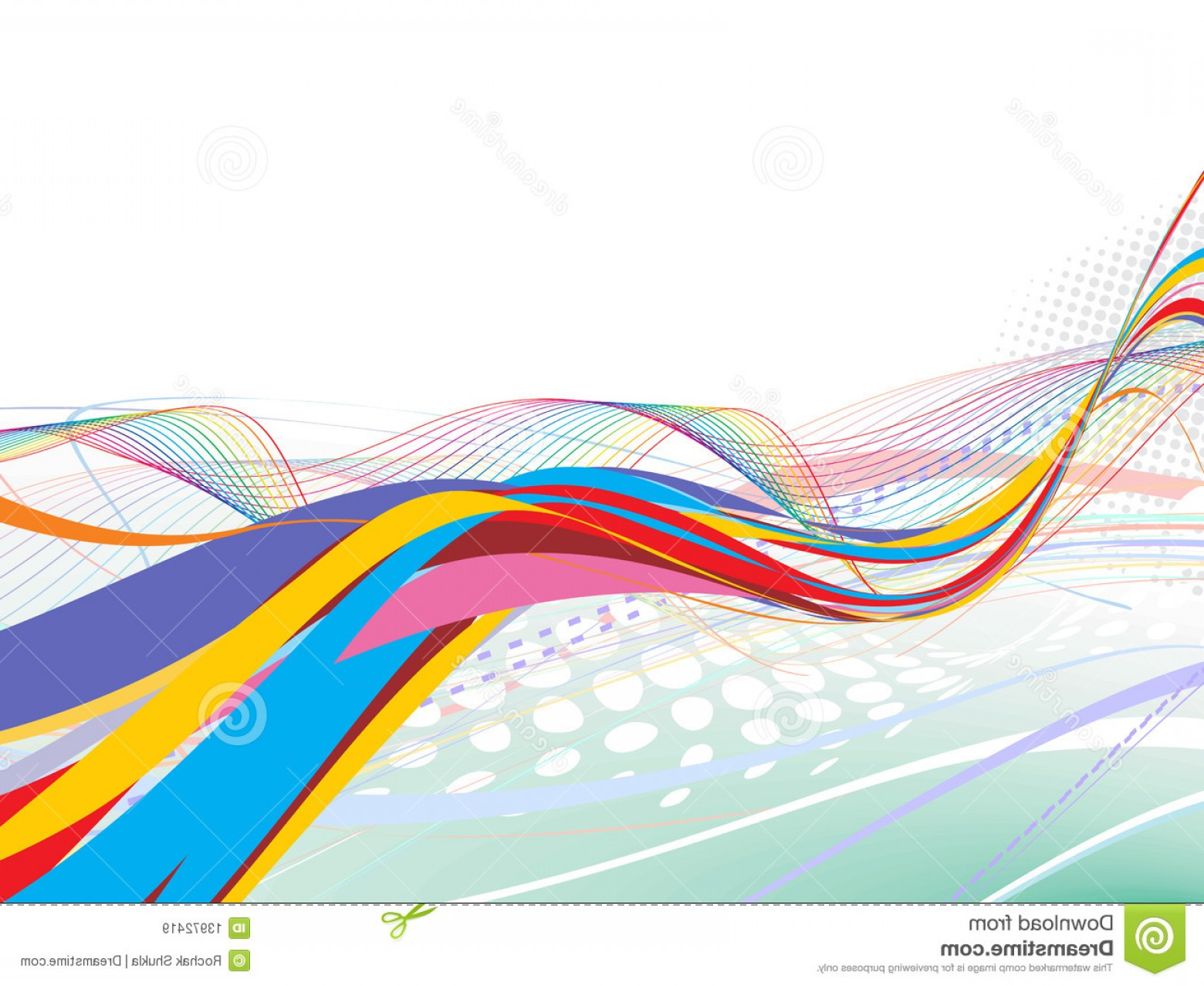 Rainbow Free Line Vector: Royalty Free Stock Images Abstract Rainbow Wave Line Image