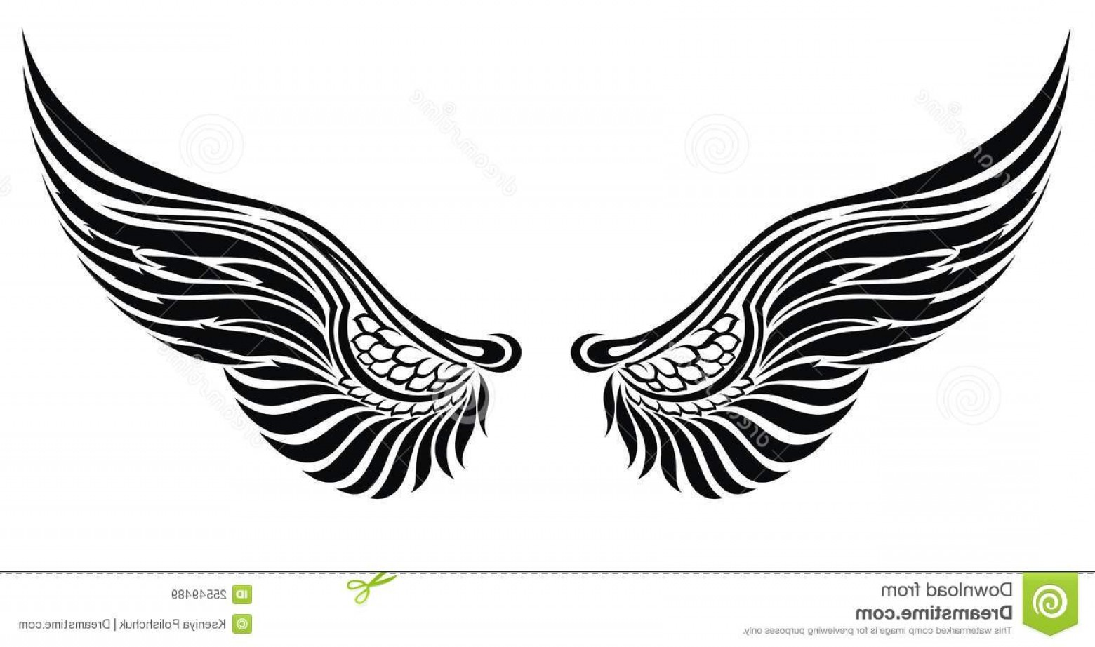 Angel Wings Tattoo Tribal Vector: Royalty Free Stock Images Angel Wings Isolated White Tattoo Design Image
