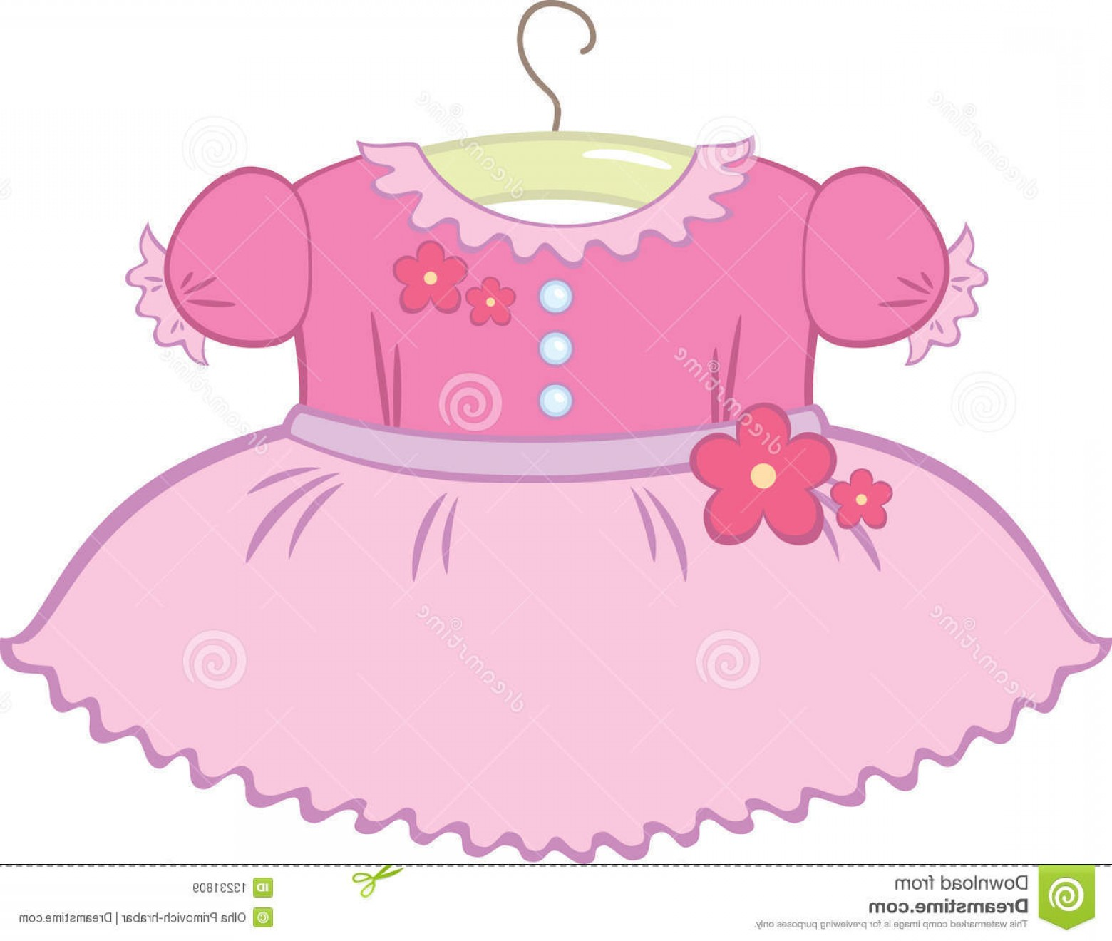 Vector Flower Girl Dresses: Royalty Free Stock Images Baby Girl Dress Image