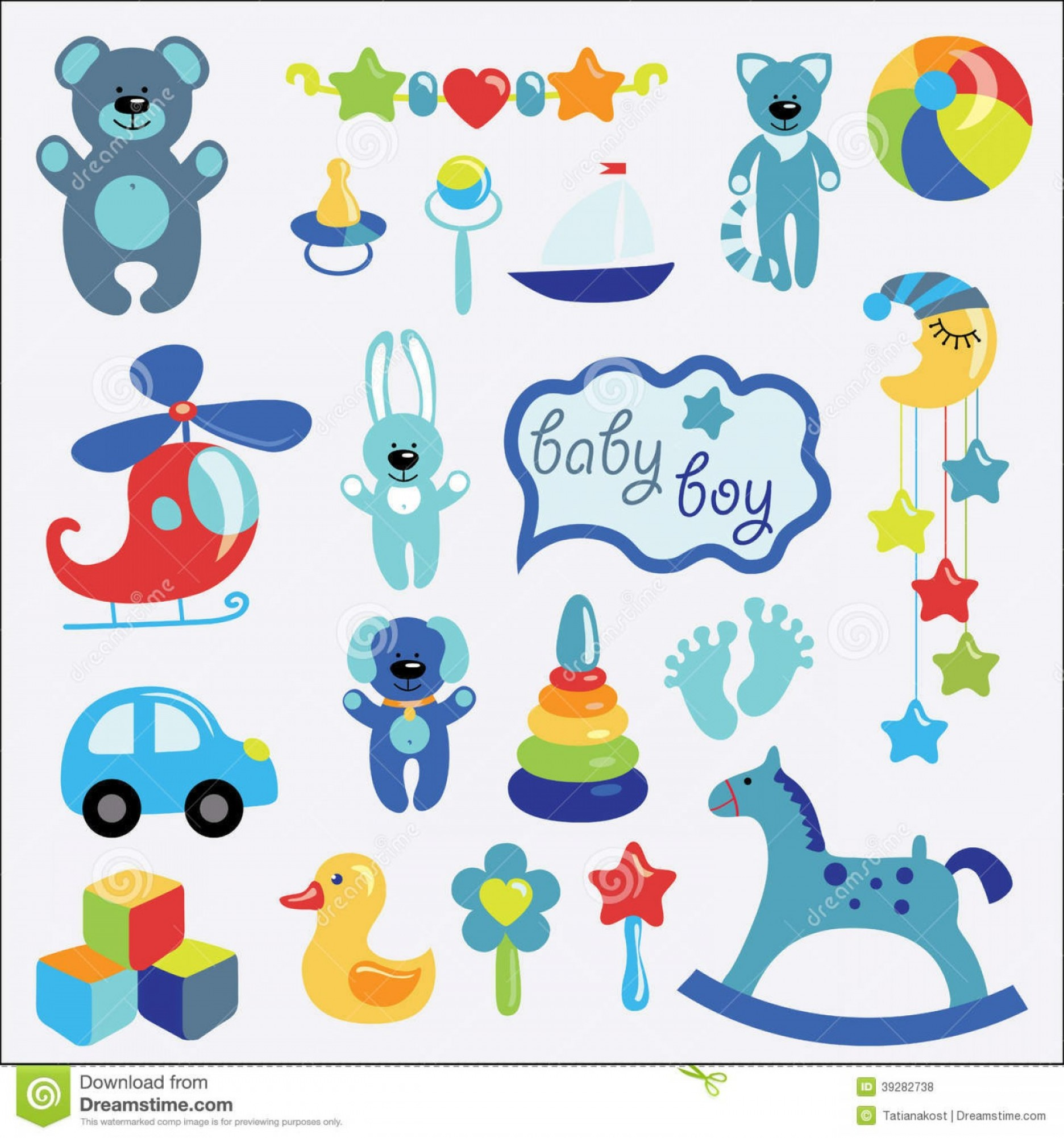Baby Toy Vector: Royalty Free Stock Images Baby Toys Set Collection Little Girl Cute Items Small Child Cartoon Icons Littie Vector Illustration Image