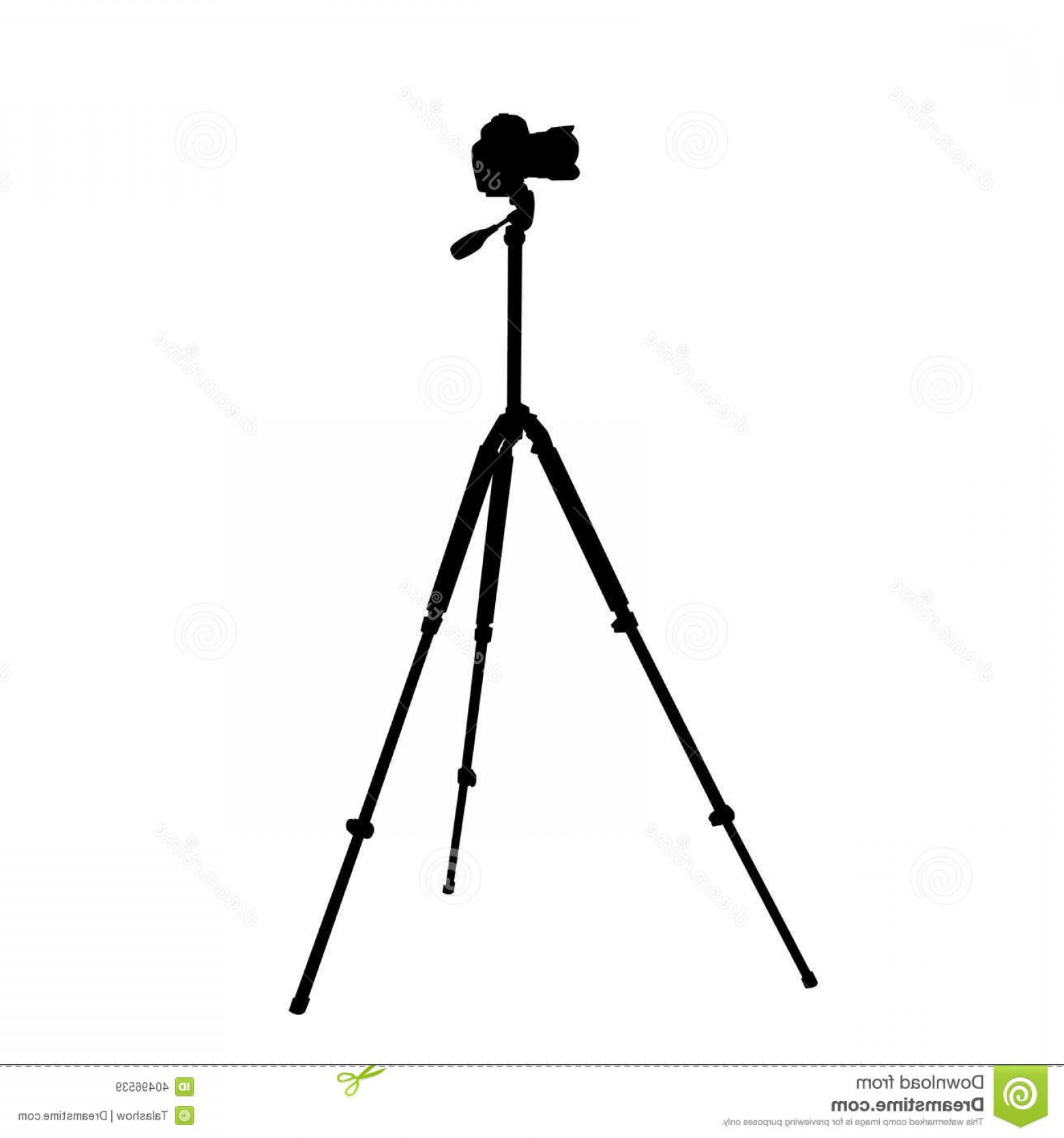 Vector Camera Stand: Royalty Free Stock Images Camera Tripod Silhouette Image