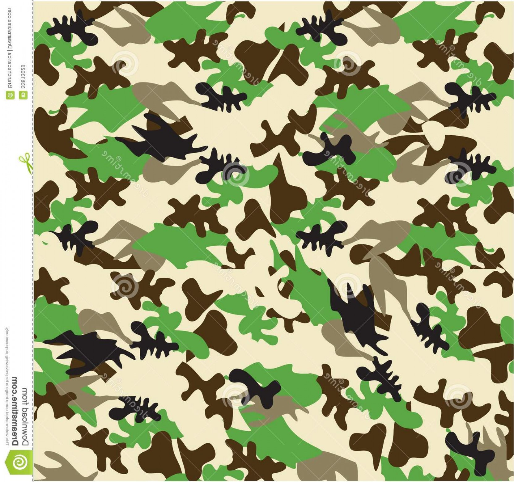 Army Camouflage Pattern Vector: Royalty Free Stock Images Camouflage Pattern Vector Illustration Image