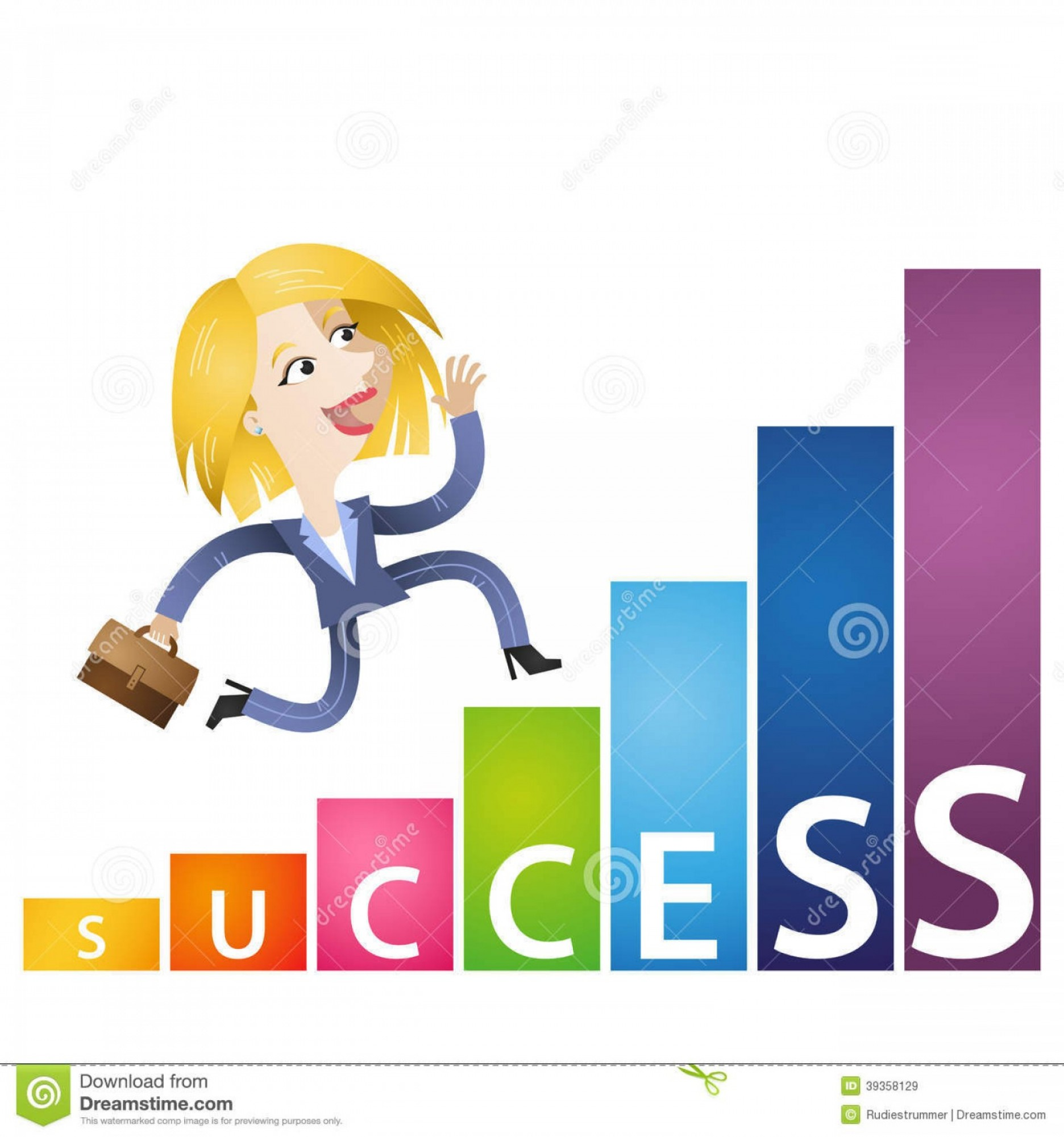 Vector Mop Flower: Royalty Free Stock Images Cartoon Business Woman Growing Income Chart Success Vector Illustration Ambitious Running Bar Labeled Image