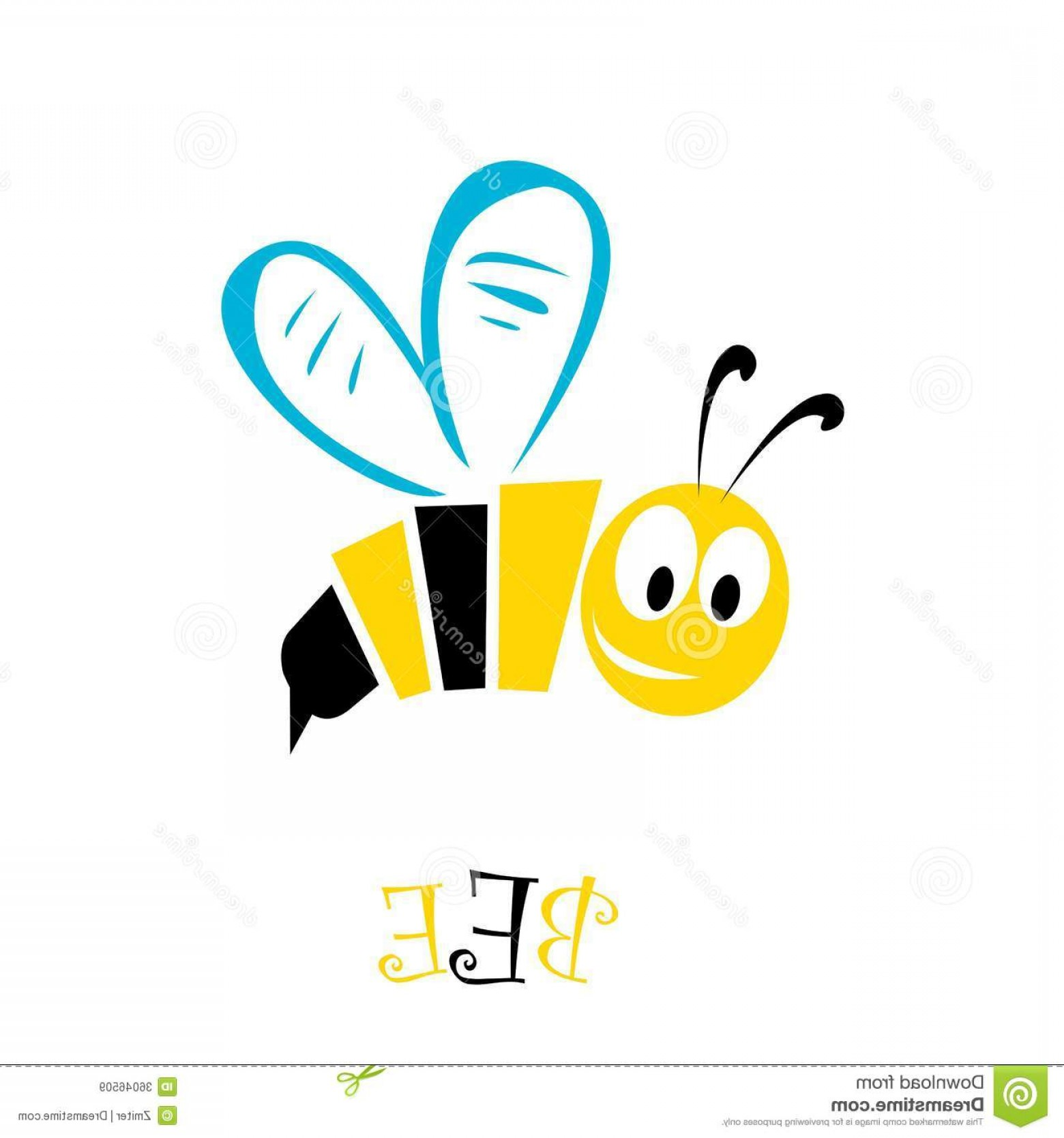 Vector Bee Icon: Royalty Free Stock Images Cartoon Cute Bright Baby Bee Vector Illustration Icon Image