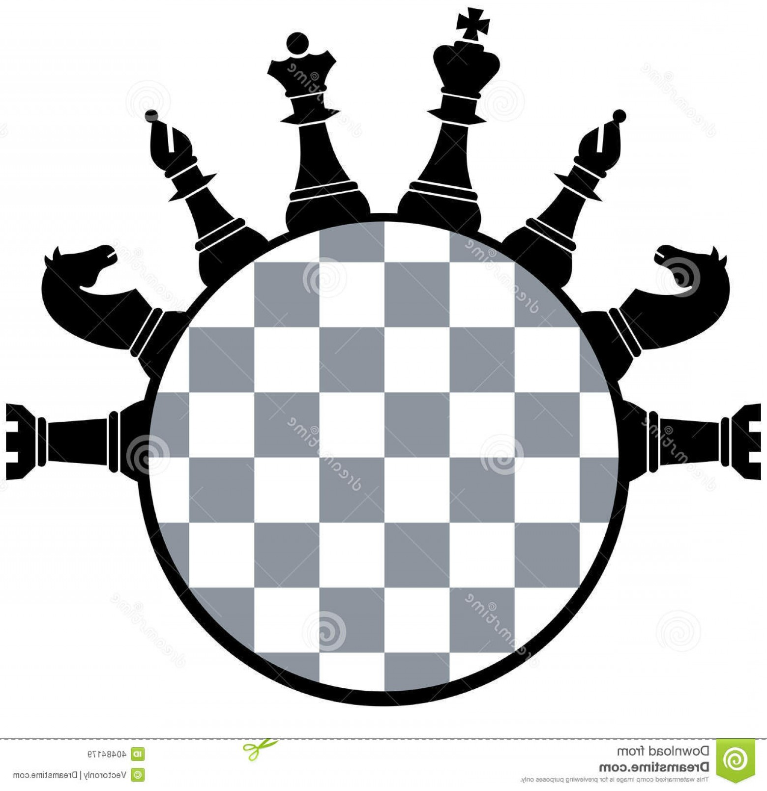 Vector Chess Board: Royalty Free Stock Images Chess Board Pieces Vector Illustration Image