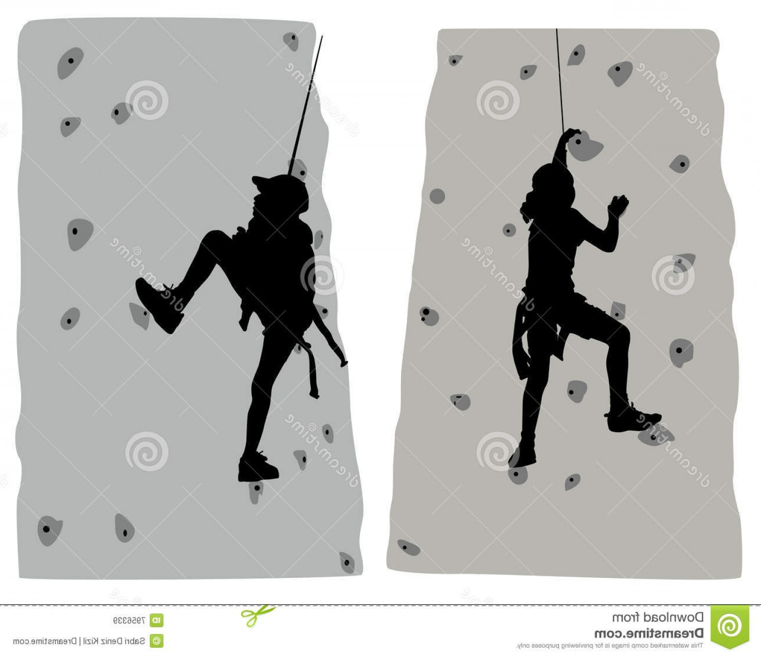 Climbing Silhouette Vector Art: Royalty Free Stock Images Climber Vector Image