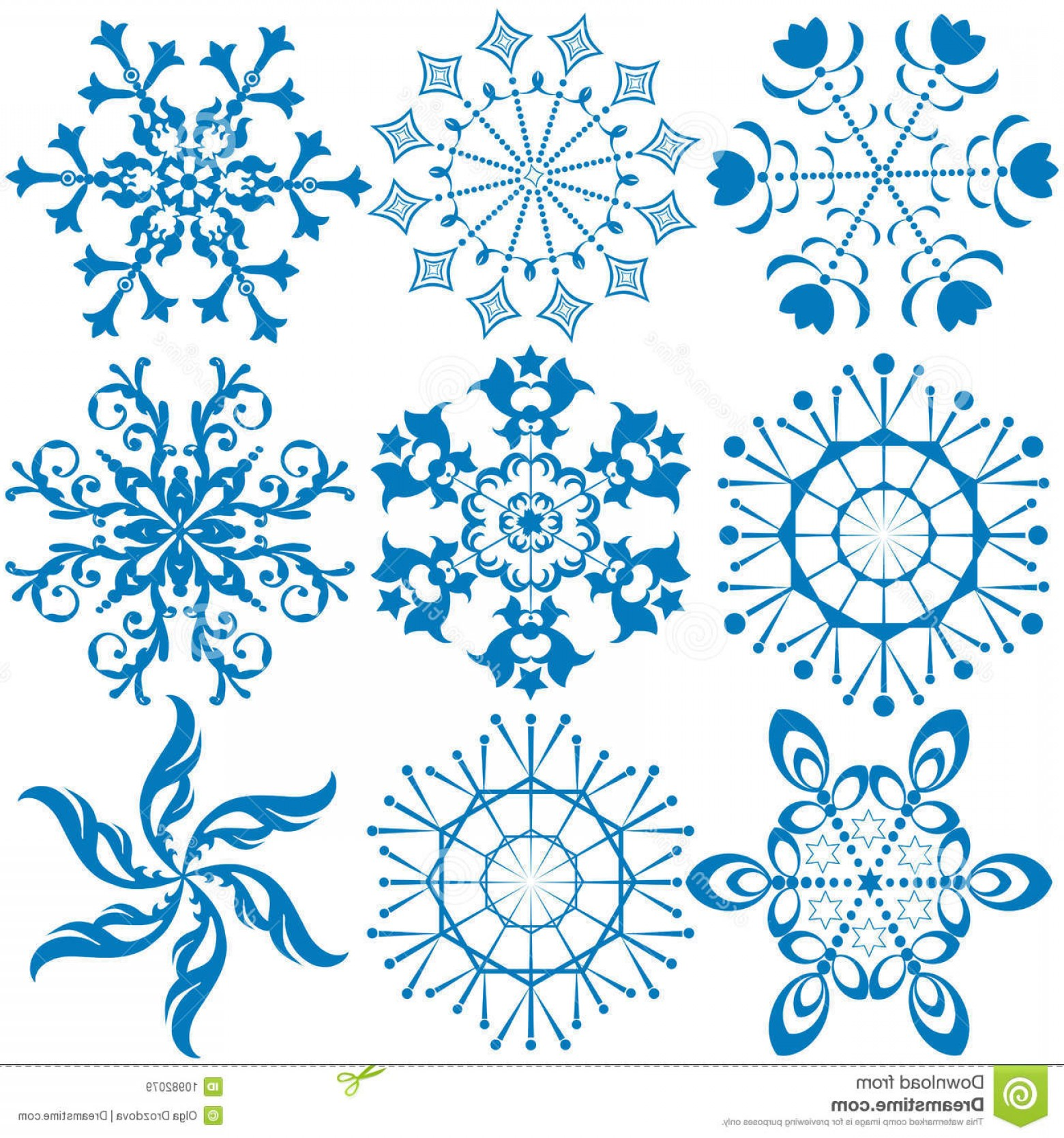 White Snowflake Vector Art: Royalty Free Stock Images Collection Dark Blue Snowflakes Vector Image