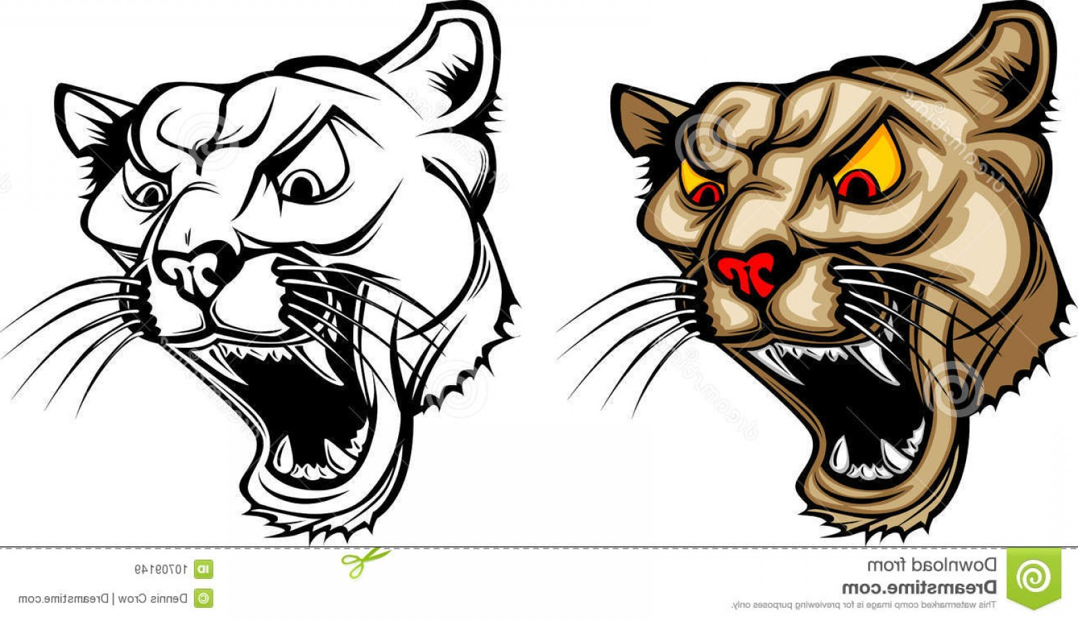 Cougar Logo Vector: Royalty Free Stock Images Cougar Panther Mascot Logo Image