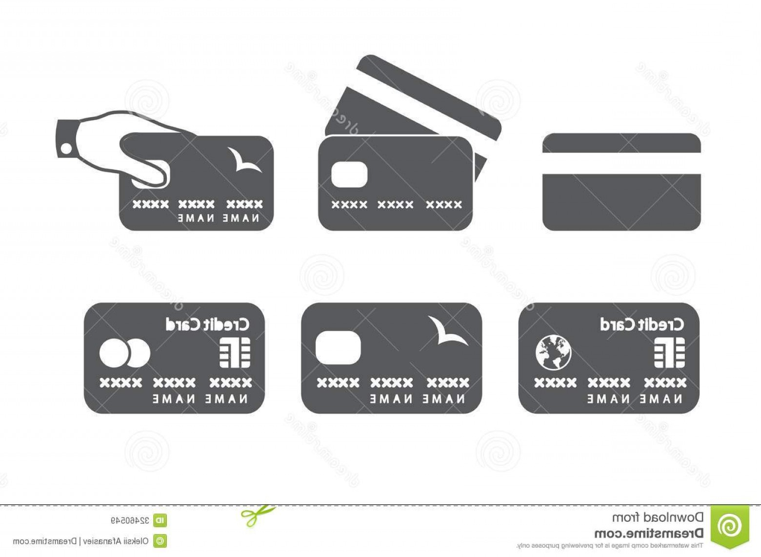 Credit Card Logos Vector: Royalty Free Stock Images Credit Card Icons Vector Illustration Image