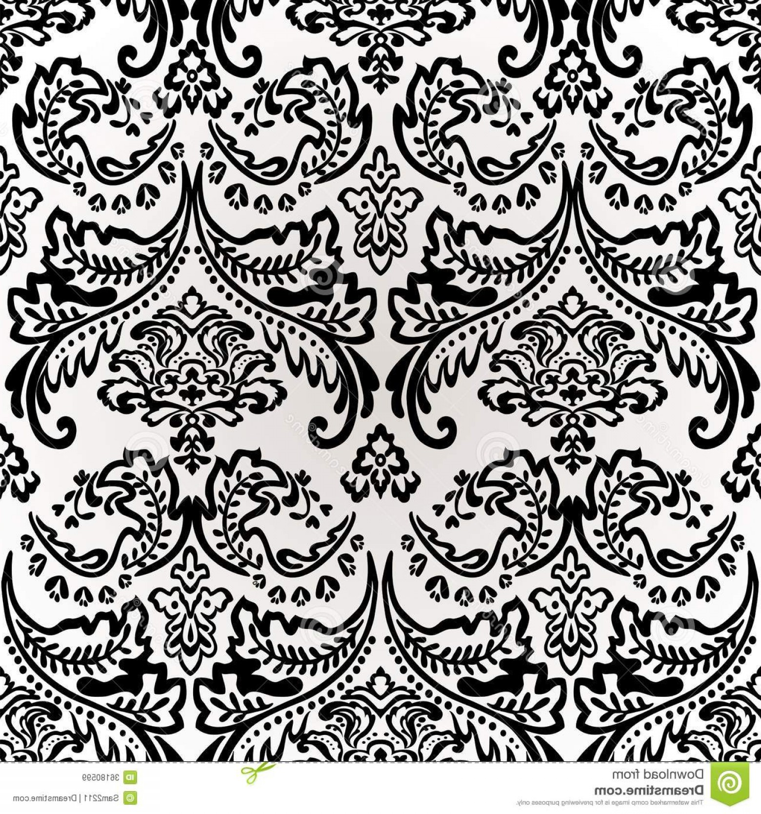 Damask Background Vector Art: Royalty Free Stock Images Damask Vintage Floral Seamless Pattern Background Vector Illustration Image
