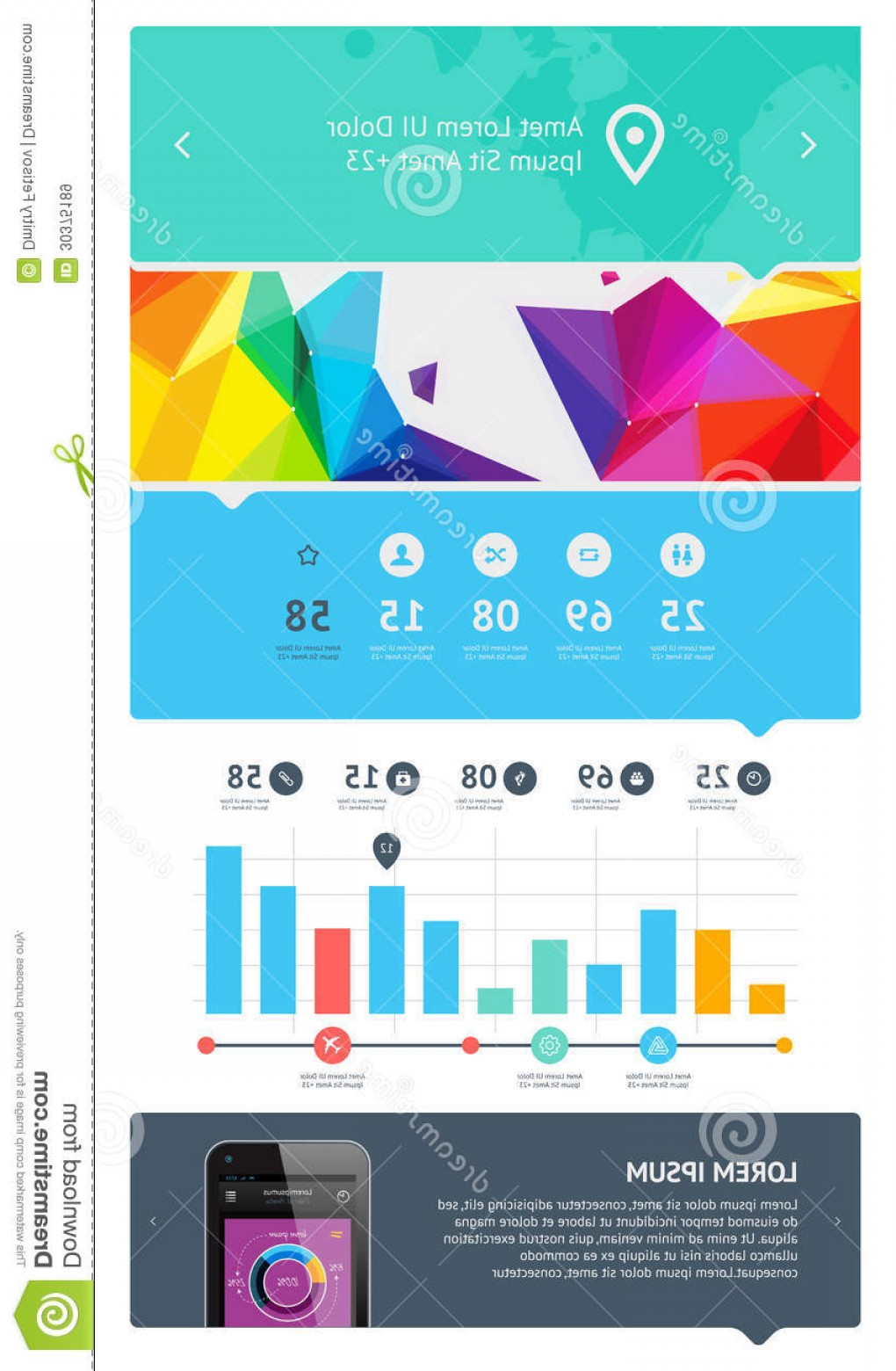 Vectors Buttons And Menus: Royalty Free Stock Images Elements Infographics Buttons Menus Eps Image