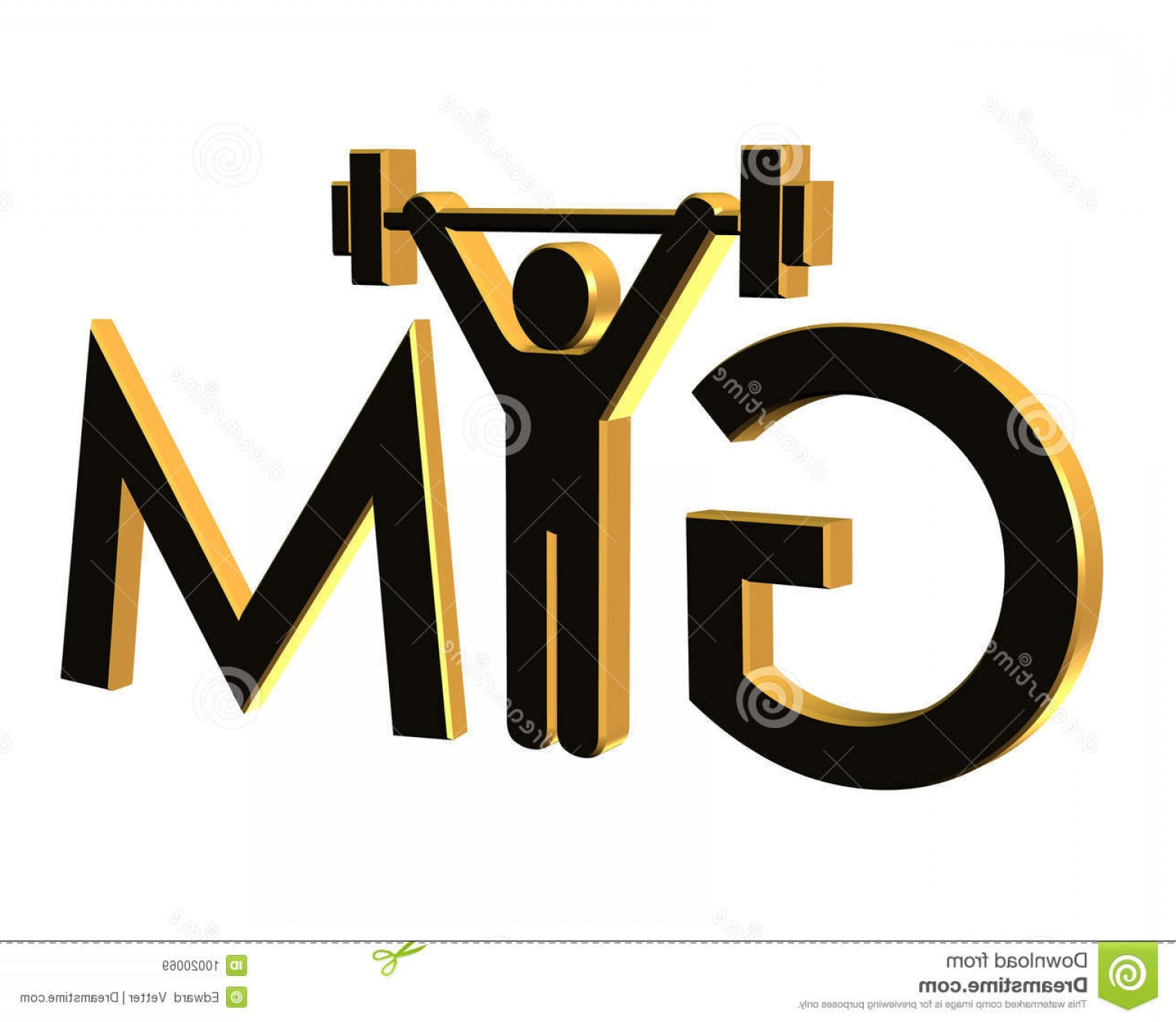 Gold Gym Vector: Royalty Free Stock Images Gym Fitness Logo D Isolated Image