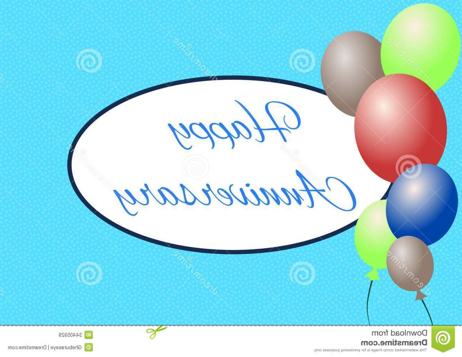 Happy Workplace Anniversary Vector: Royalty Free Stock Images Happy Anniversay Nice Anniversary Greeting Card Pois Balloons Image