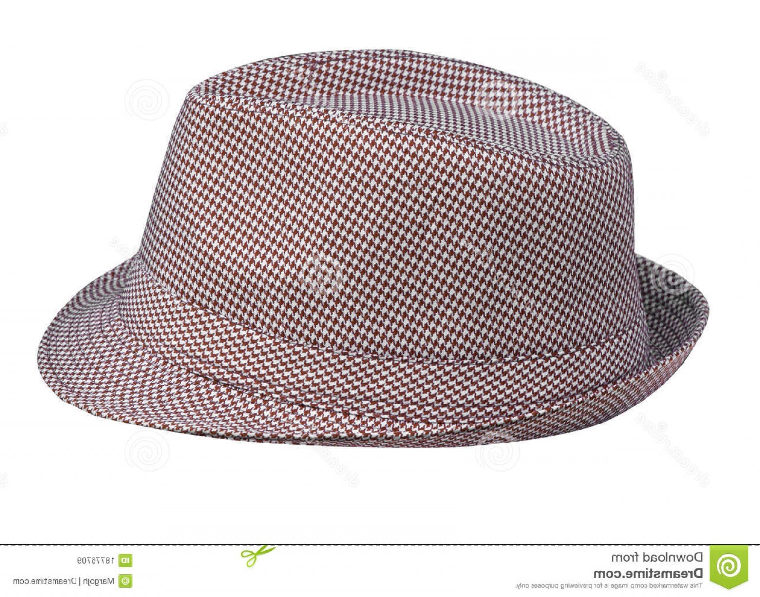 Houndstooth Hats Vector: Royalty Free Stock Images Houndstooth Pattern Mans Hat Image