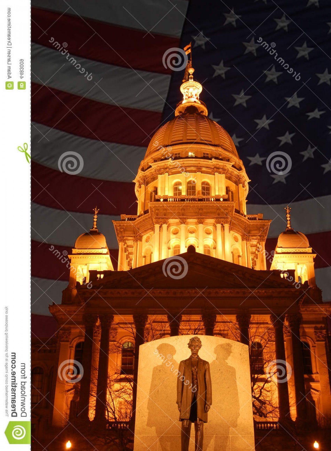 Arch Vector Illinios: Royalty Free Stock Images Illinois State Capitol Building Image