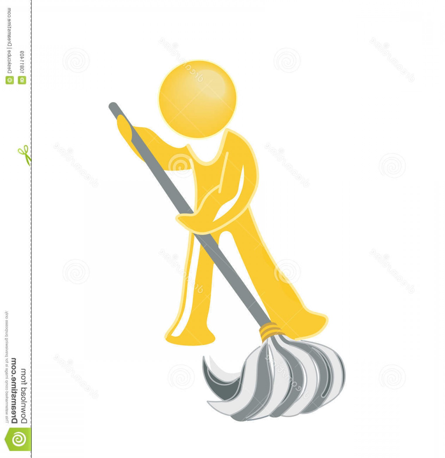 Janitorial Vector: Royalty Free Stock Images Janitor Icon Image