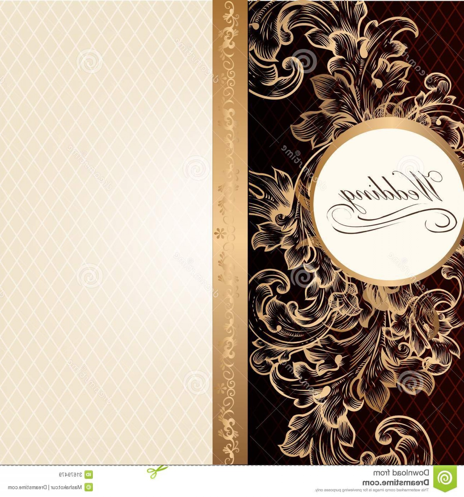 Elegant Wedding Vector Graphics: Royalty Free Stock Images Luxury Wedding Invitation Card Retro Style Vintage Ornam Elegant Classic Menu Vector Image