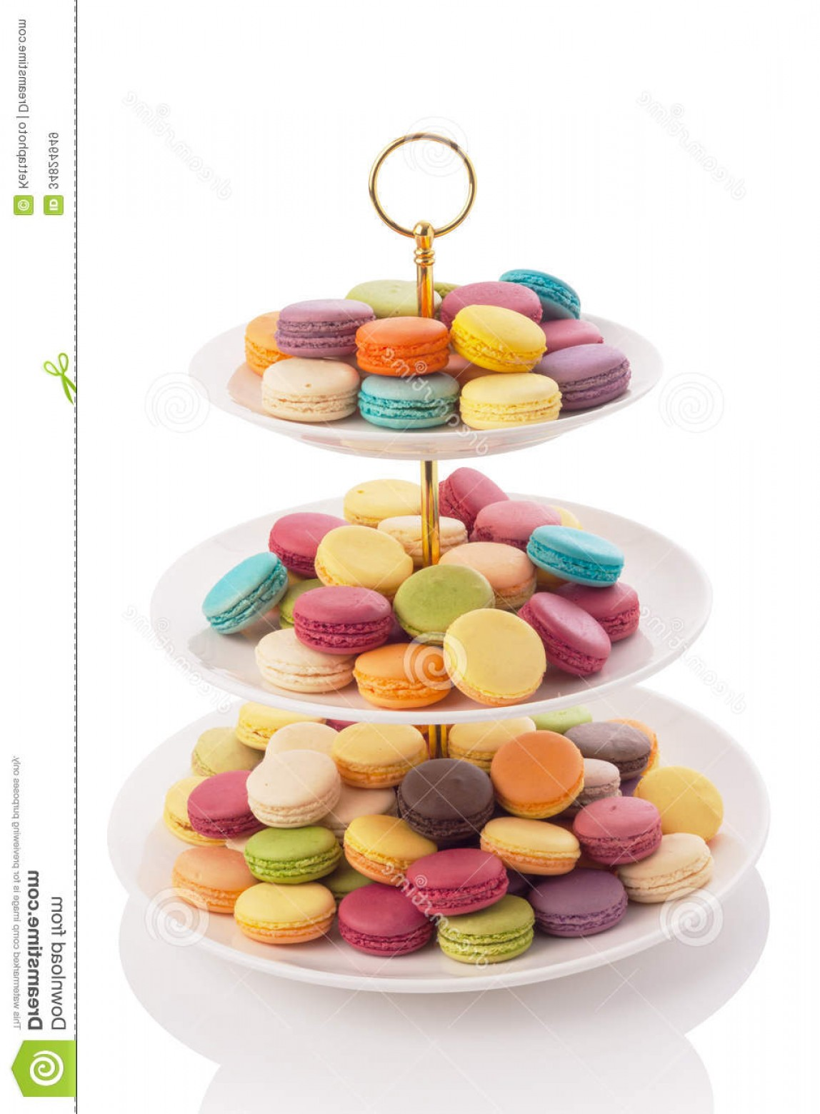 Vector 3 Tier Tray: Royalty Free Stock Images Macarons Three Tier Serving Tray Isolated White Image