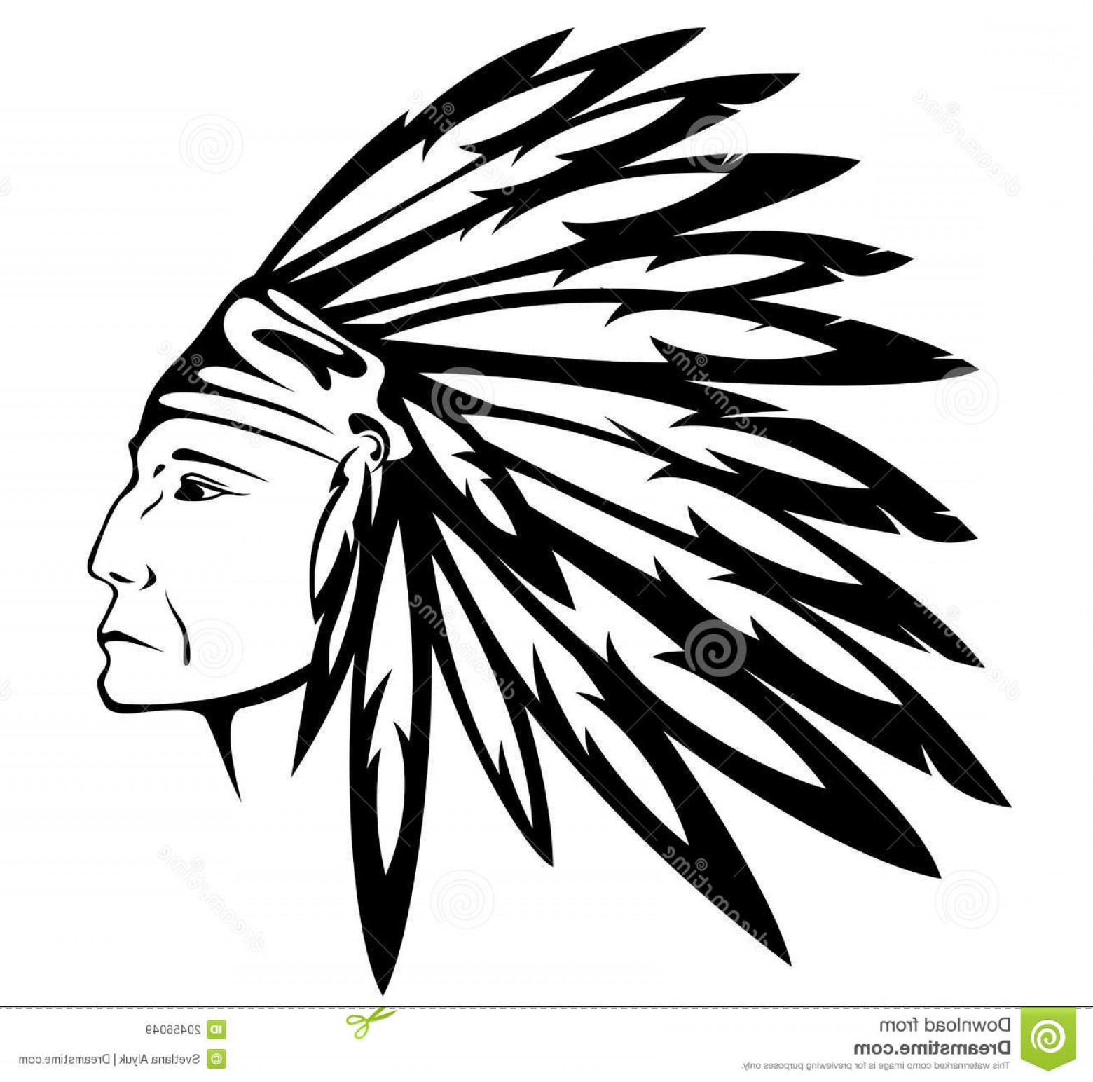 American Indian Chief Vector: Royalty Free Stock Images Native American Indian Chief Vector Image