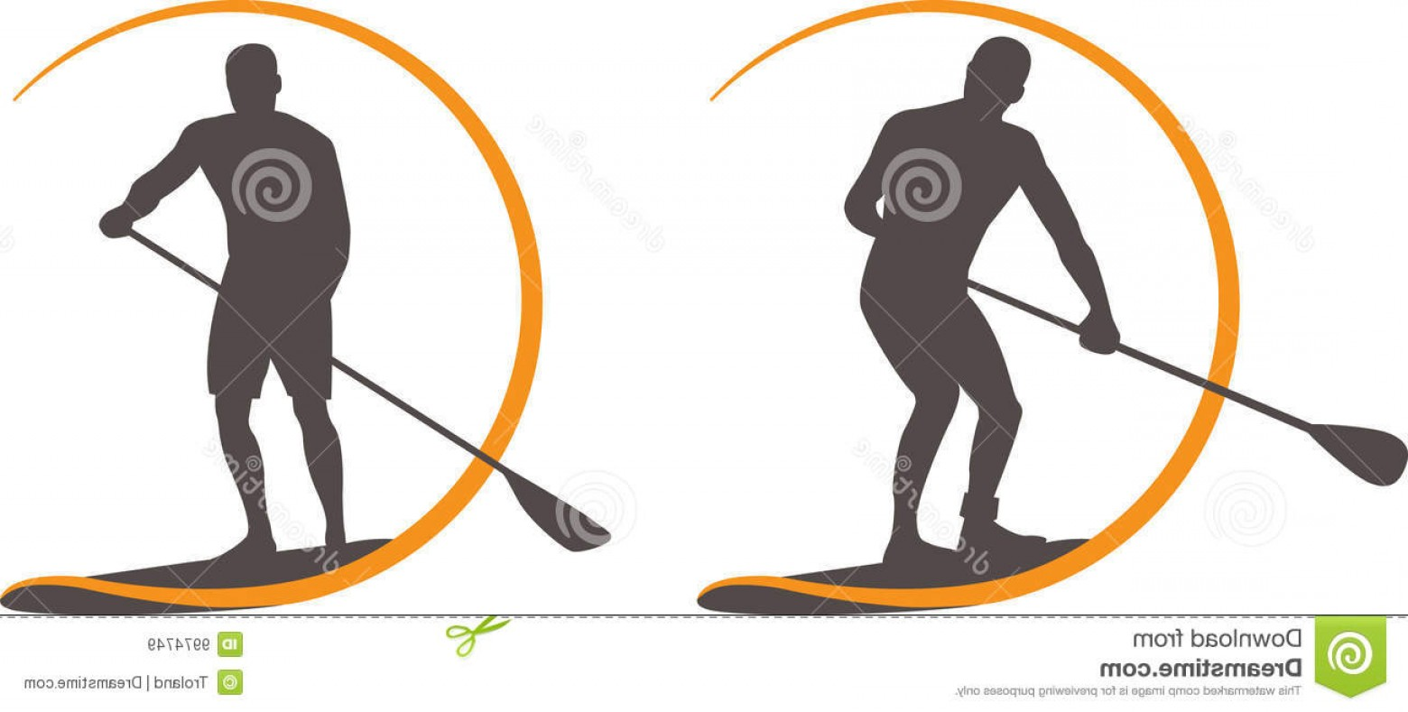 Stand Up Paddle Boarder Vector: Royalty Free Stock Images Paddleboard Image