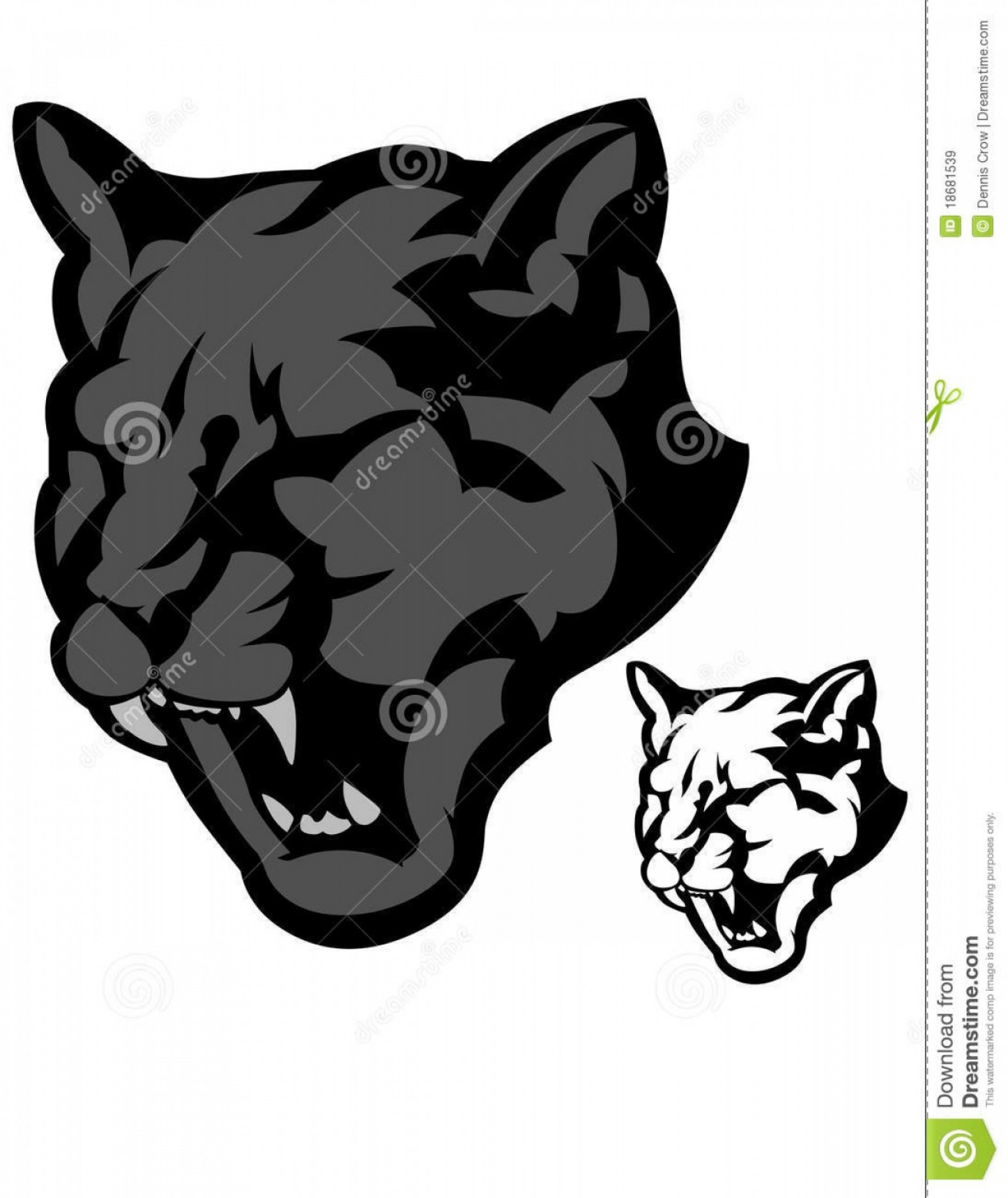 Panther Mascot Vector Sports: Royalty Free Stock Images Panther Mascot Vector Logo Image
