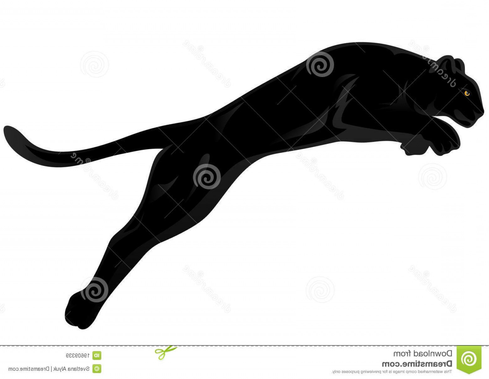 Panther Silhouette Vector: Royalty Free Stock Images Panther Vector Image