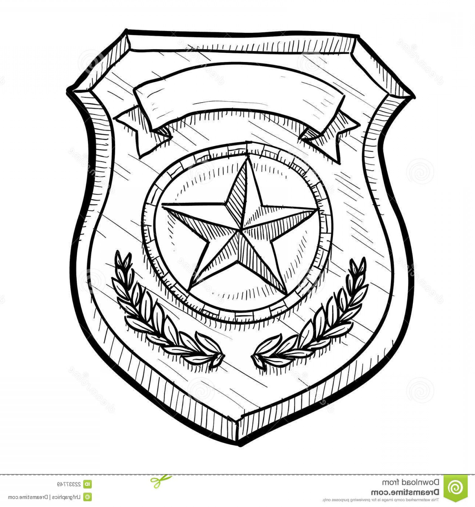 Law Enforcement Badges Vector: Royalty Free Stock Images Police Security Badge Sketch Image