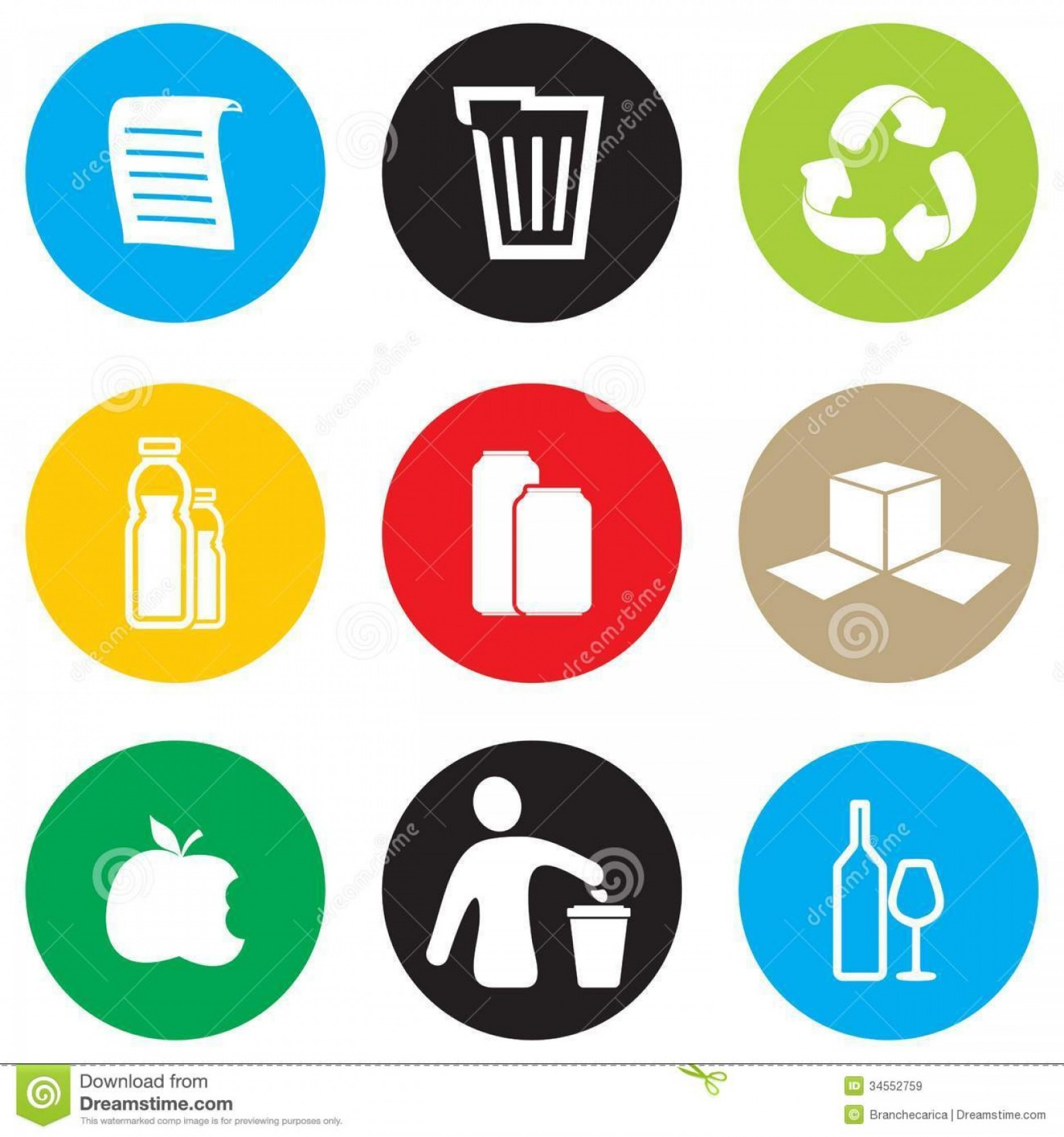 Recycle Icon Vector Red: Royalty Free Stock Images Recycling Icon Set Vector Illustration Image
