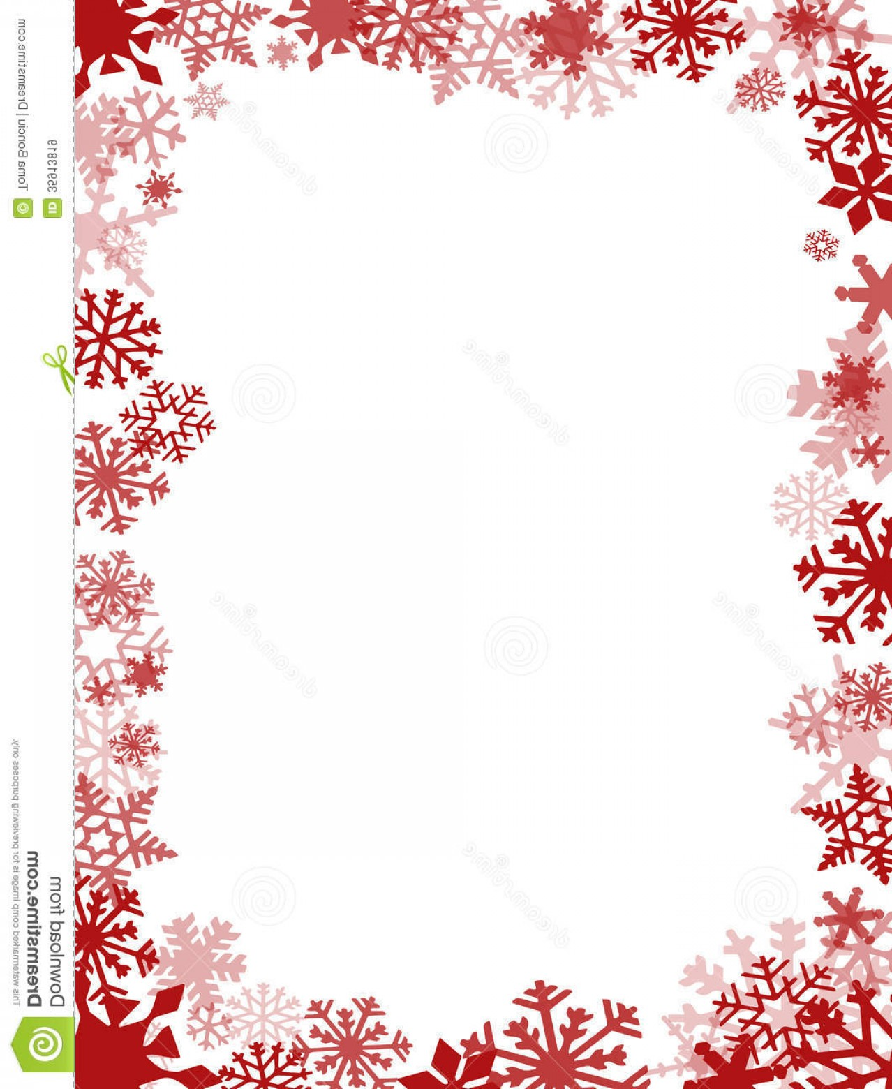 Snowflake Border Vector Art: Royalty Free Stock Images Red Christmas Card Frame Background Image
